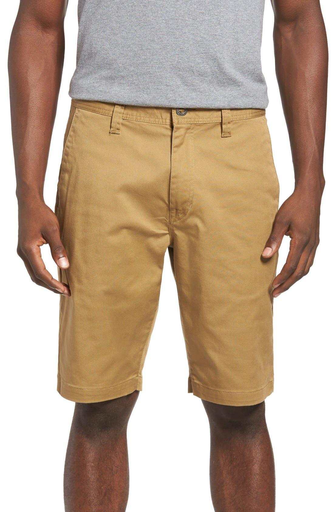 'Modern' Stretch Chino Shorts,                             Main thumbnail 9, color,