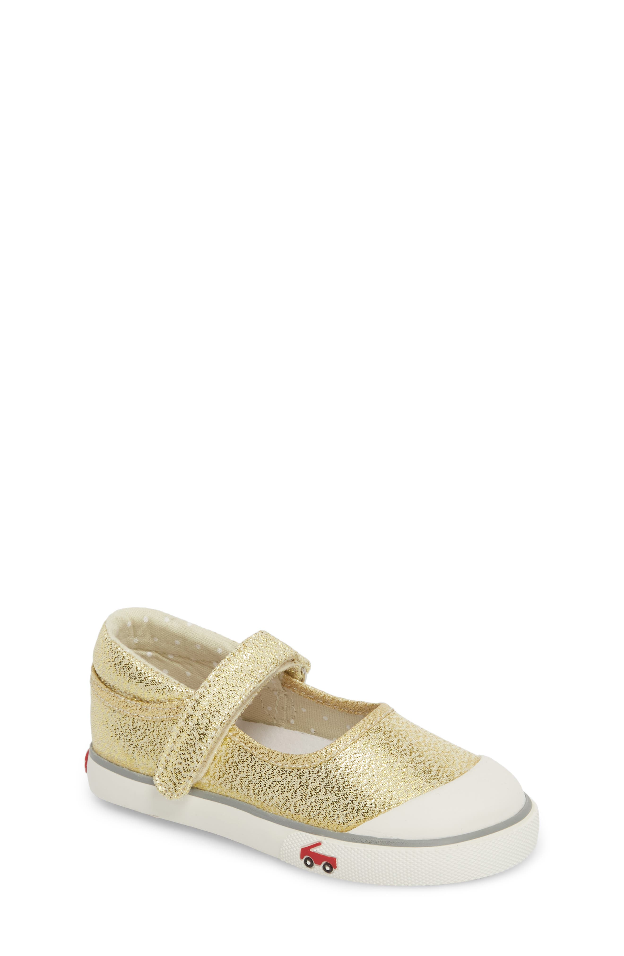 'Marie' Mary Jane Sneaker,                             Main thumbnail 1, color,                             METALLIC GOLD