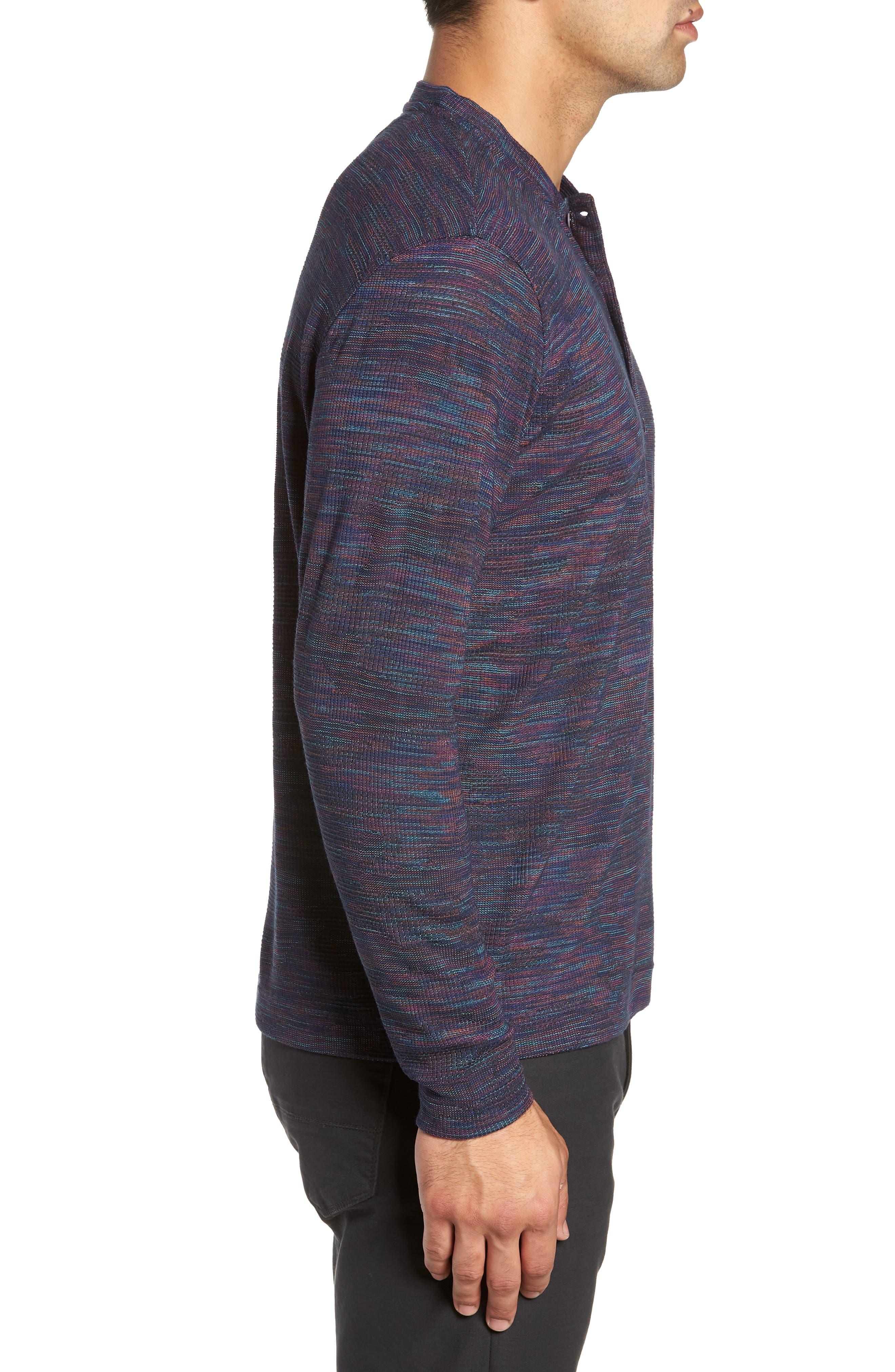 Forster Long Sleeve Henley Shirt,                             Alternate thumbnail 3, color,                             NAVY