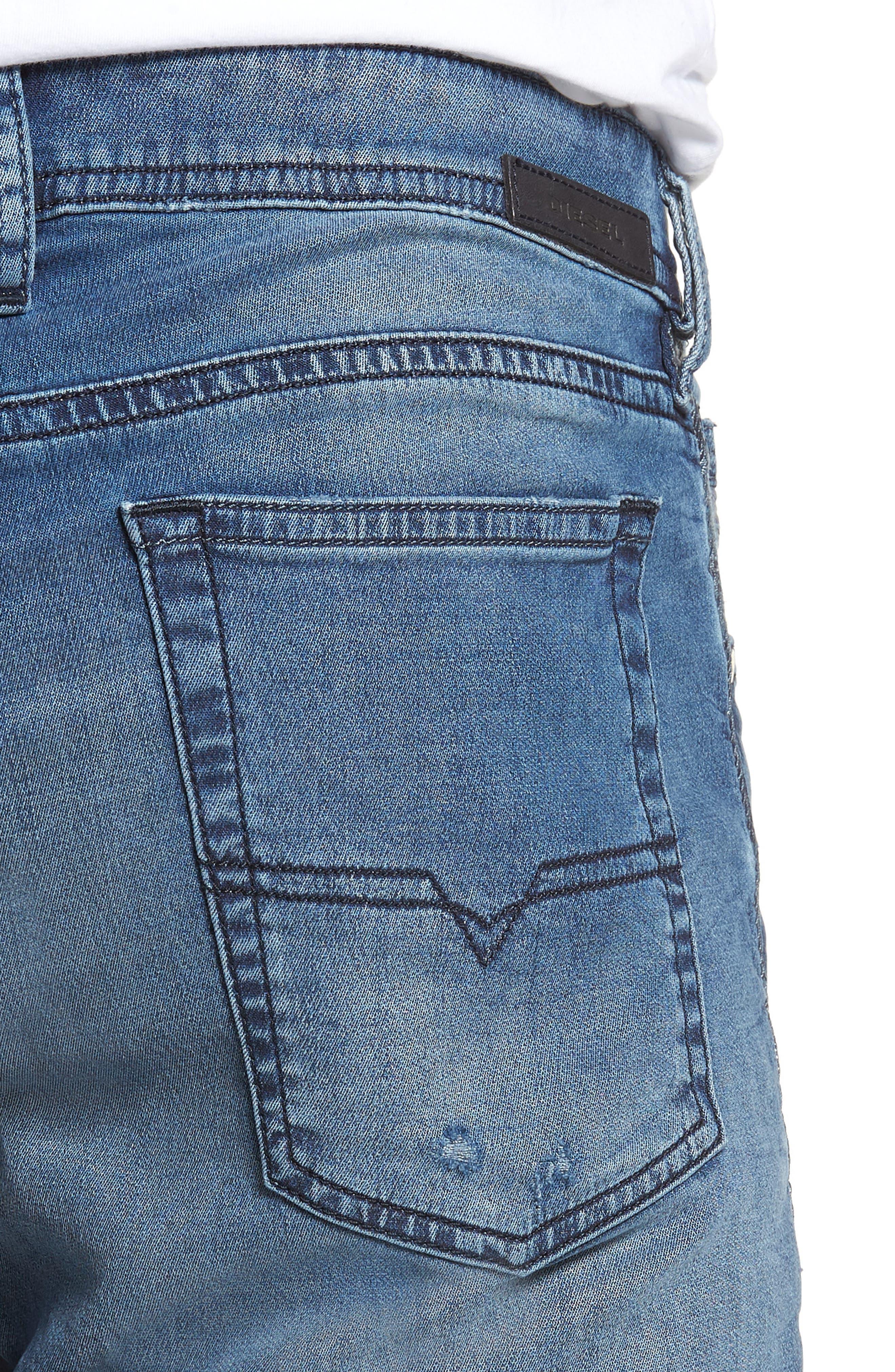 Bakari Skinny Fit Jeans,                             Alternate thumbnail 4, color,                             400