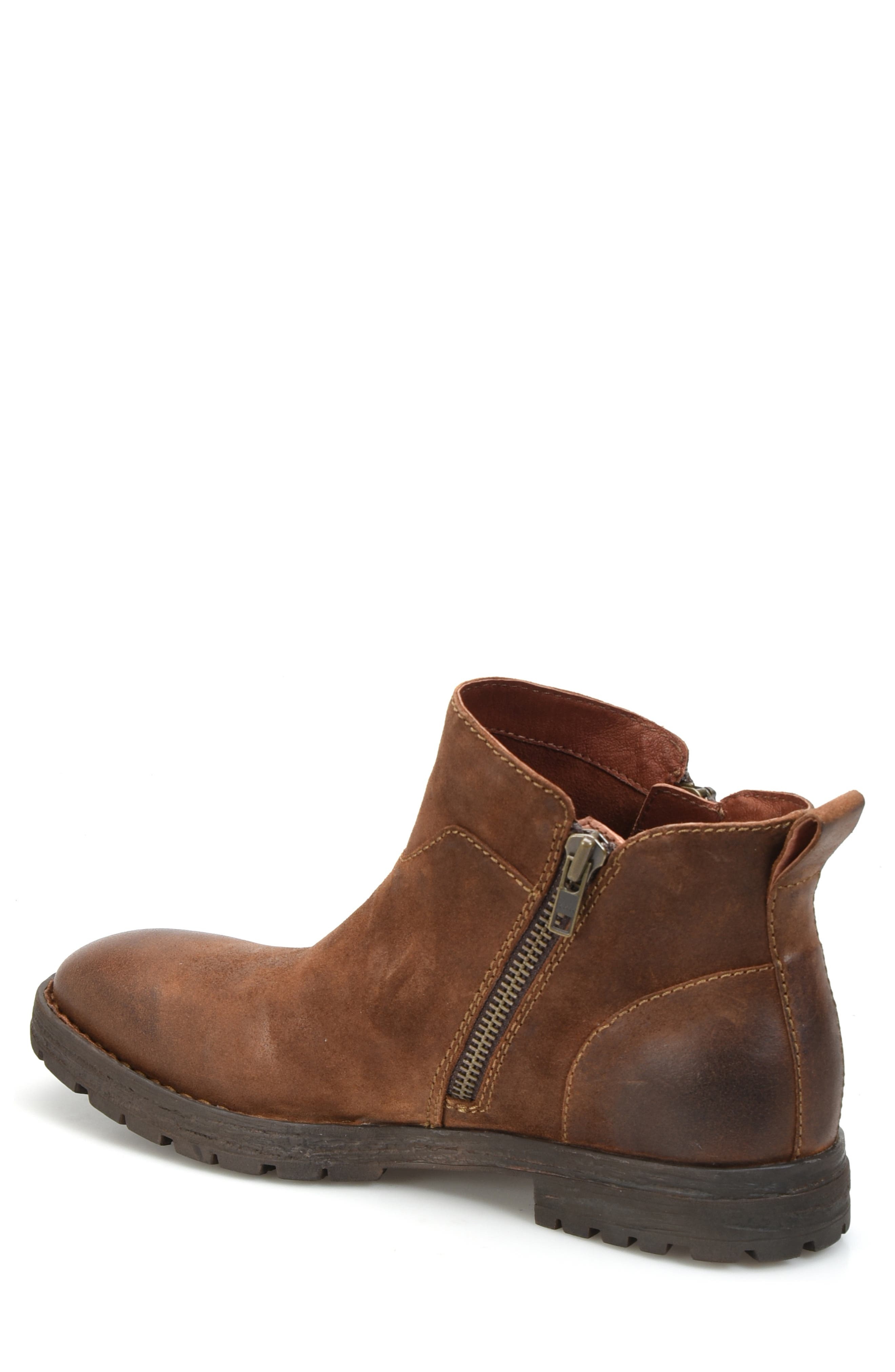 Born Ludo Zip Boot,                             Alternate thumbnail 2, color,                             RUST SUEDE