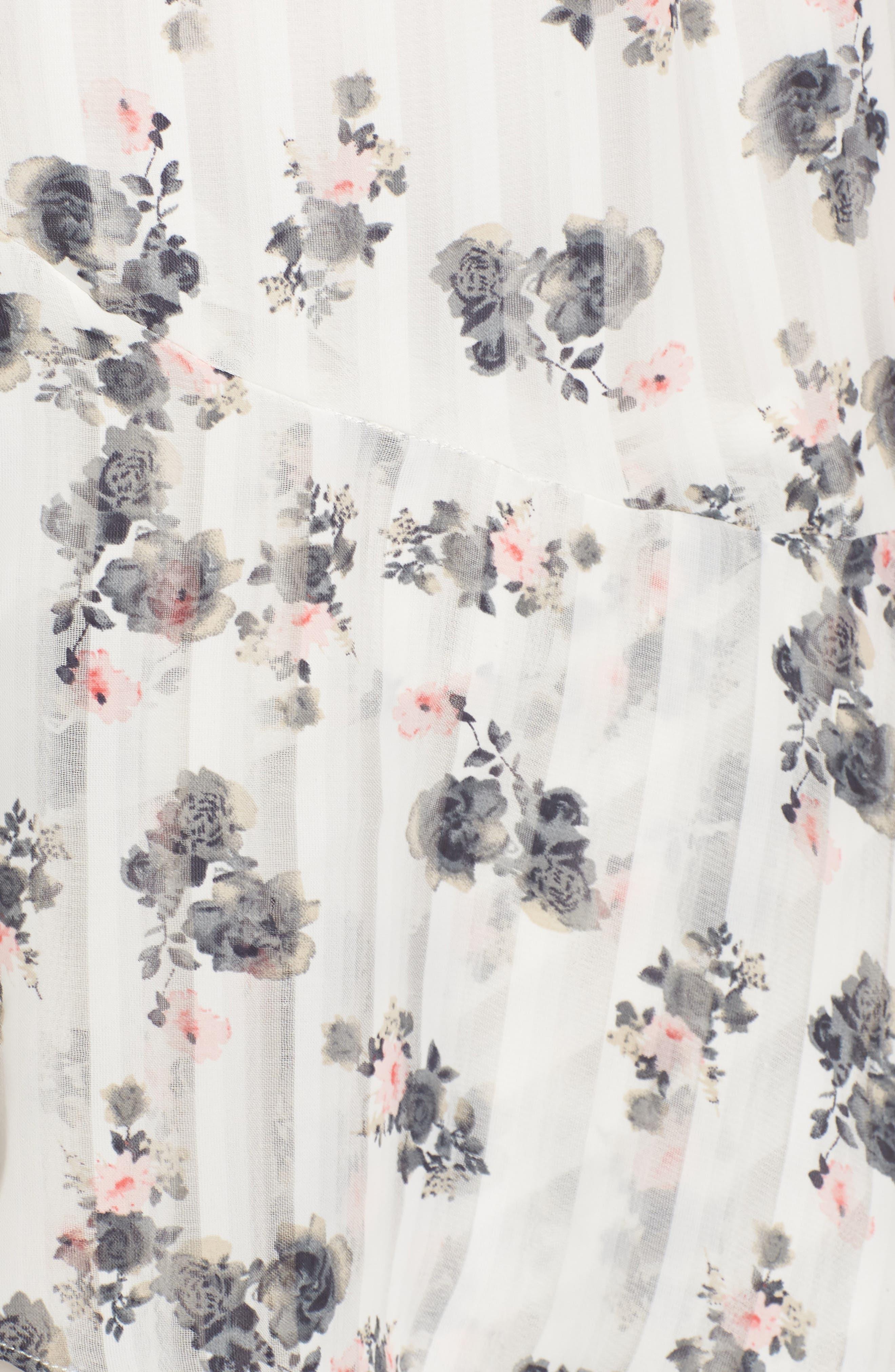 Bloom One-Shoulder Dress,                             Alternate thumbnail 5, color,                             100