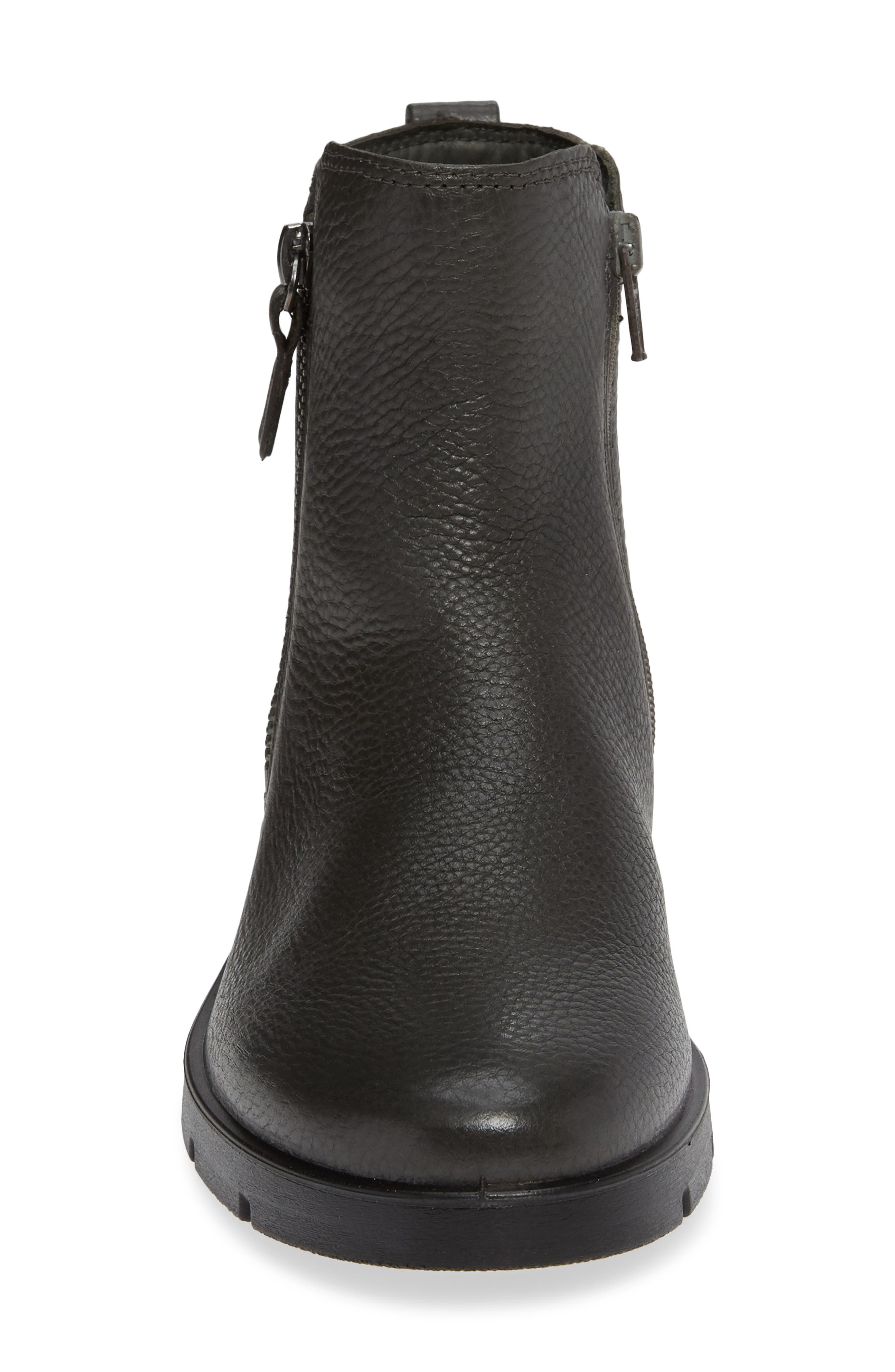'Bella' Zip Bootie,                             Alternate thumbnail 4, color,                             MOON LEATHER