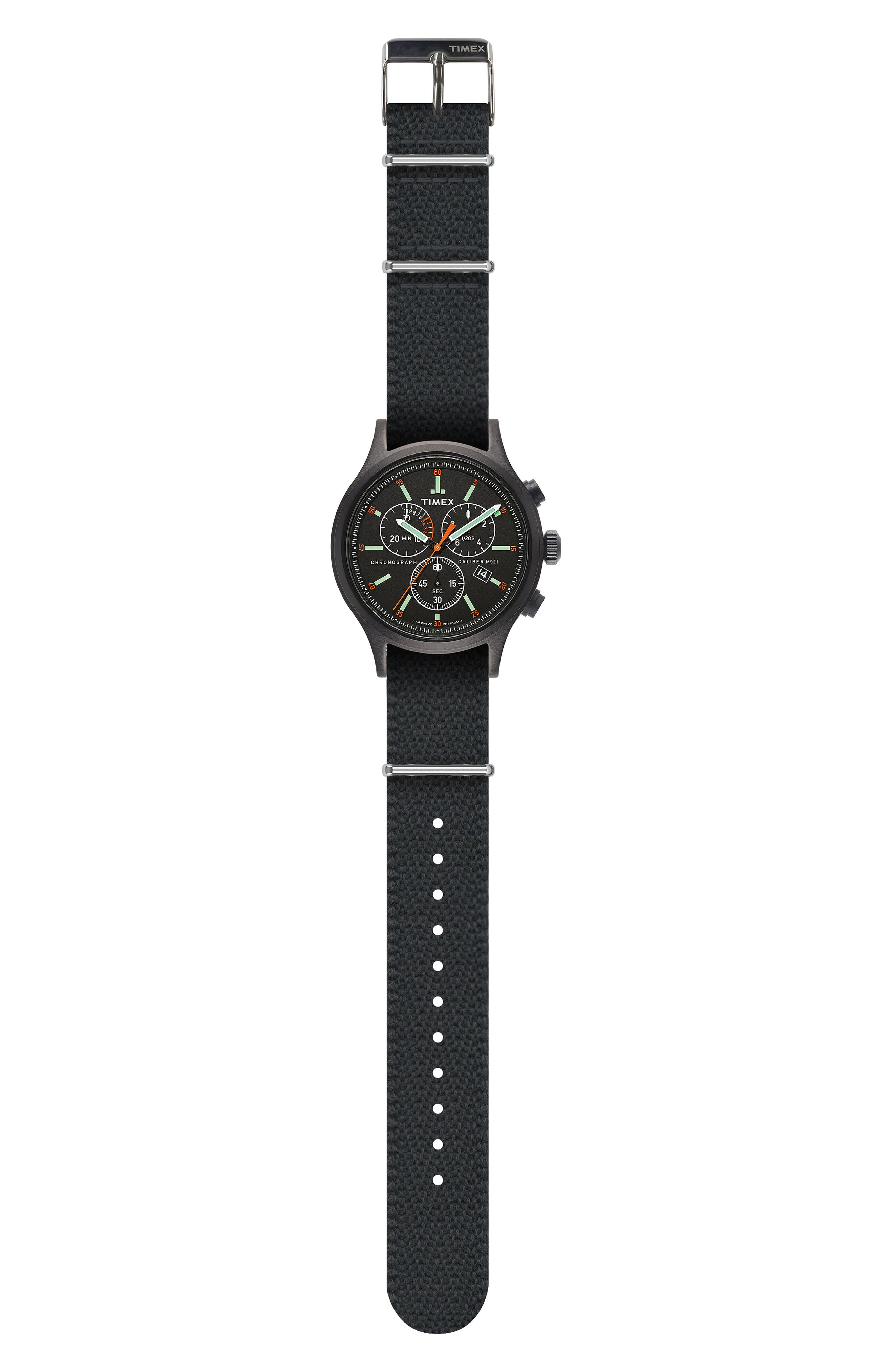 Allied Chronograph Reversible Strap Watch, 42mm,                             Alternate thumbnail 2, color,                             BLACK/ BLACK/ BLACK