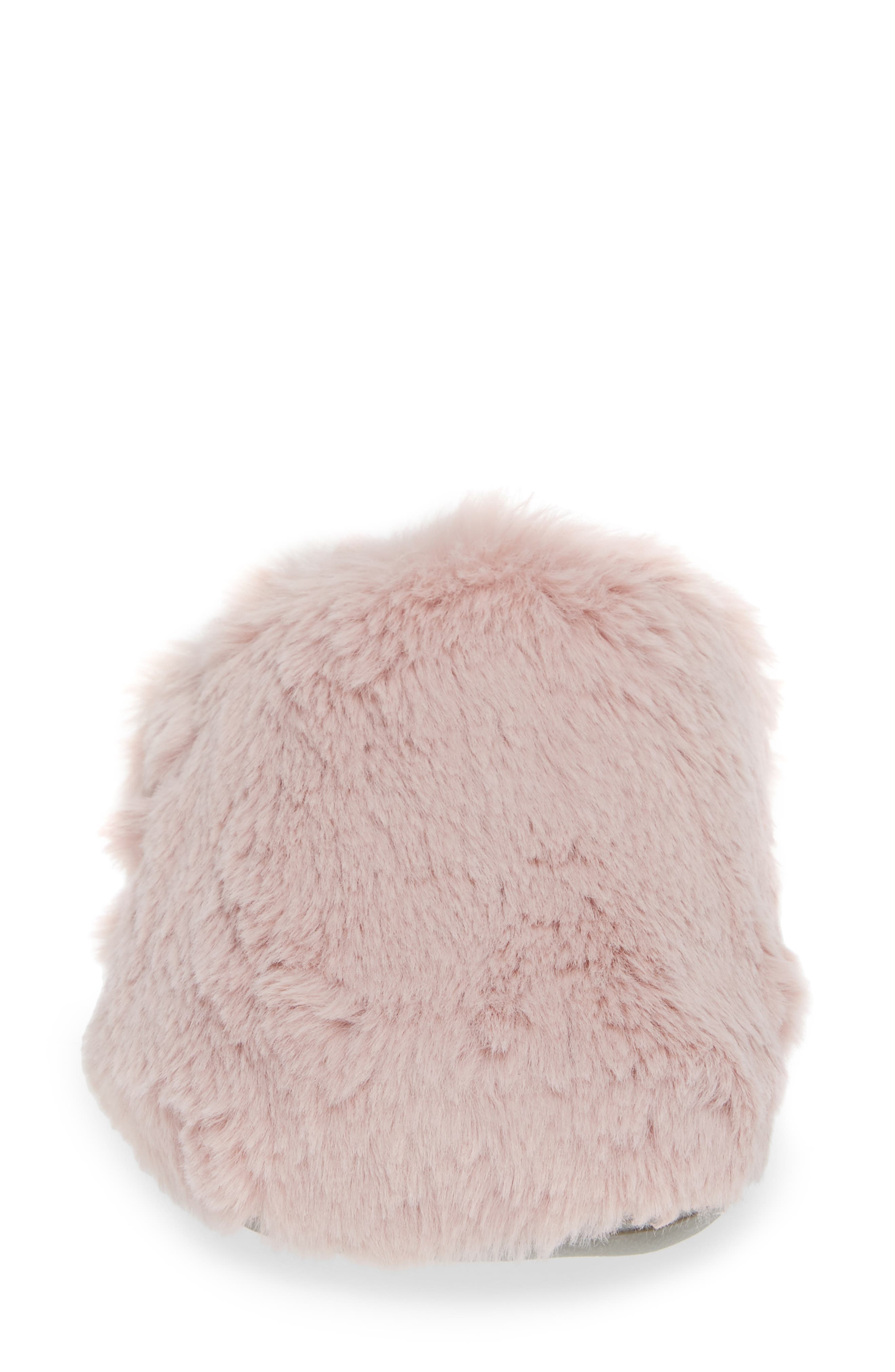 Gemma Plush Slipper,                             Alternate thumbnail 4, color,                             BLUSH