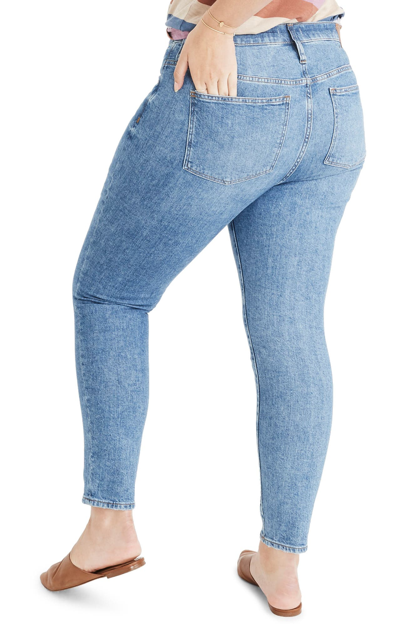 9-Inch High Waist Stretch Skinny Jeans,                             Alternate thumbnail 7, color,                             REGINA