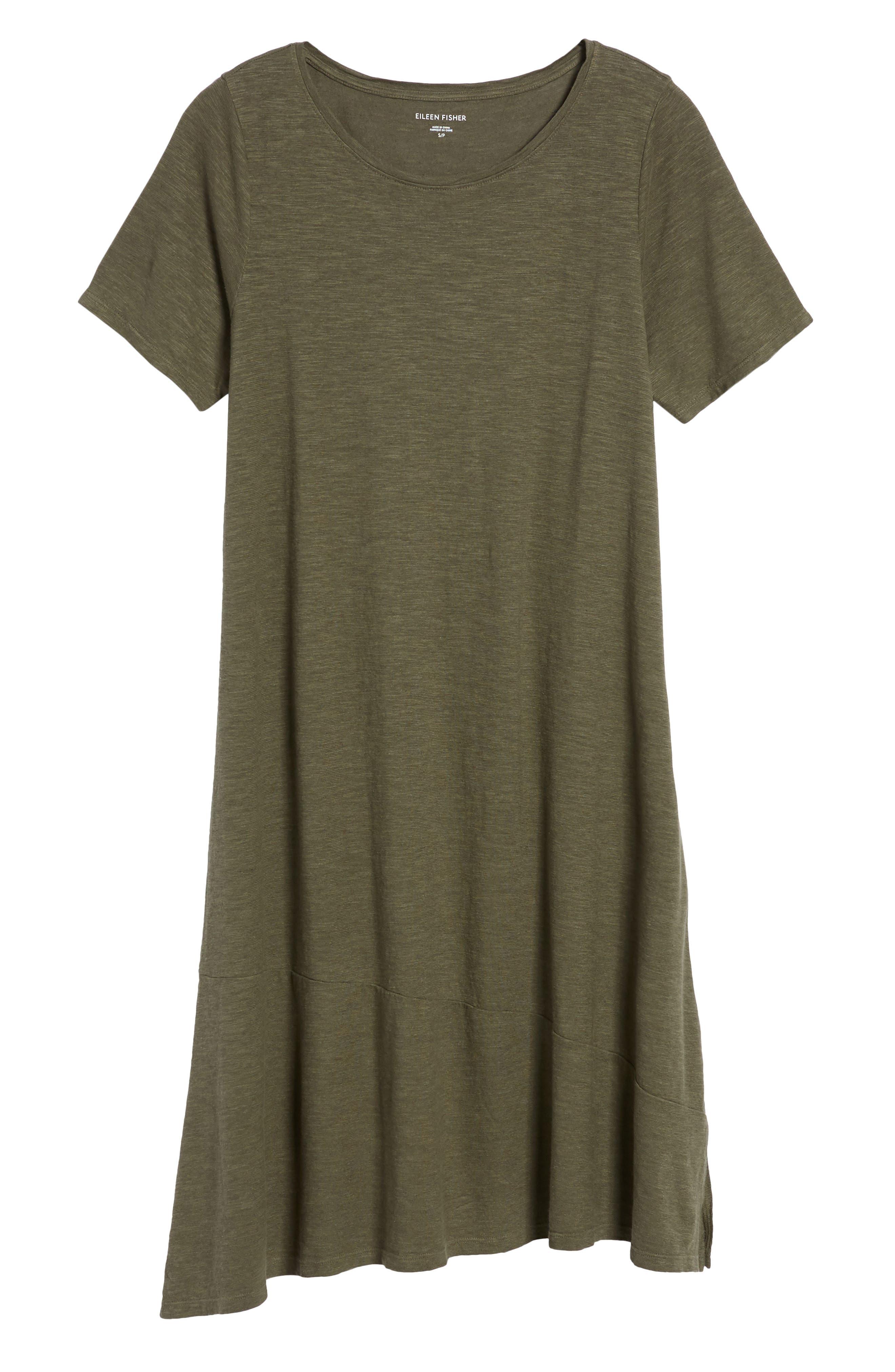 Asymmetrical Hemp Blend Shift Dress,                             Alternate thumbnail 7, color,                             359