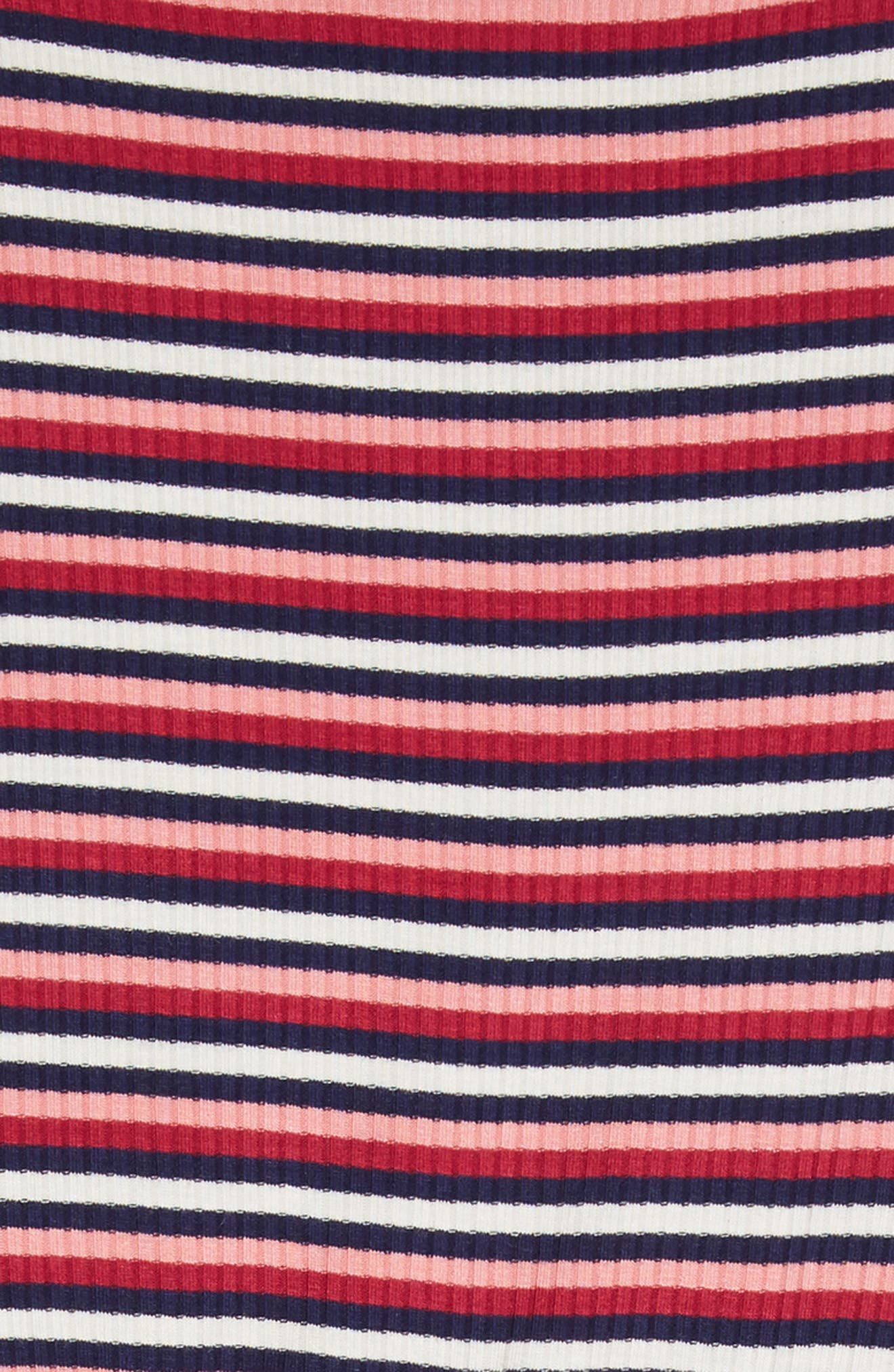TEN SIXTY SHERMAN,                             Stripe Dress,                             Alternate thumbnail 3, color,                             WHITE RASPBERRY