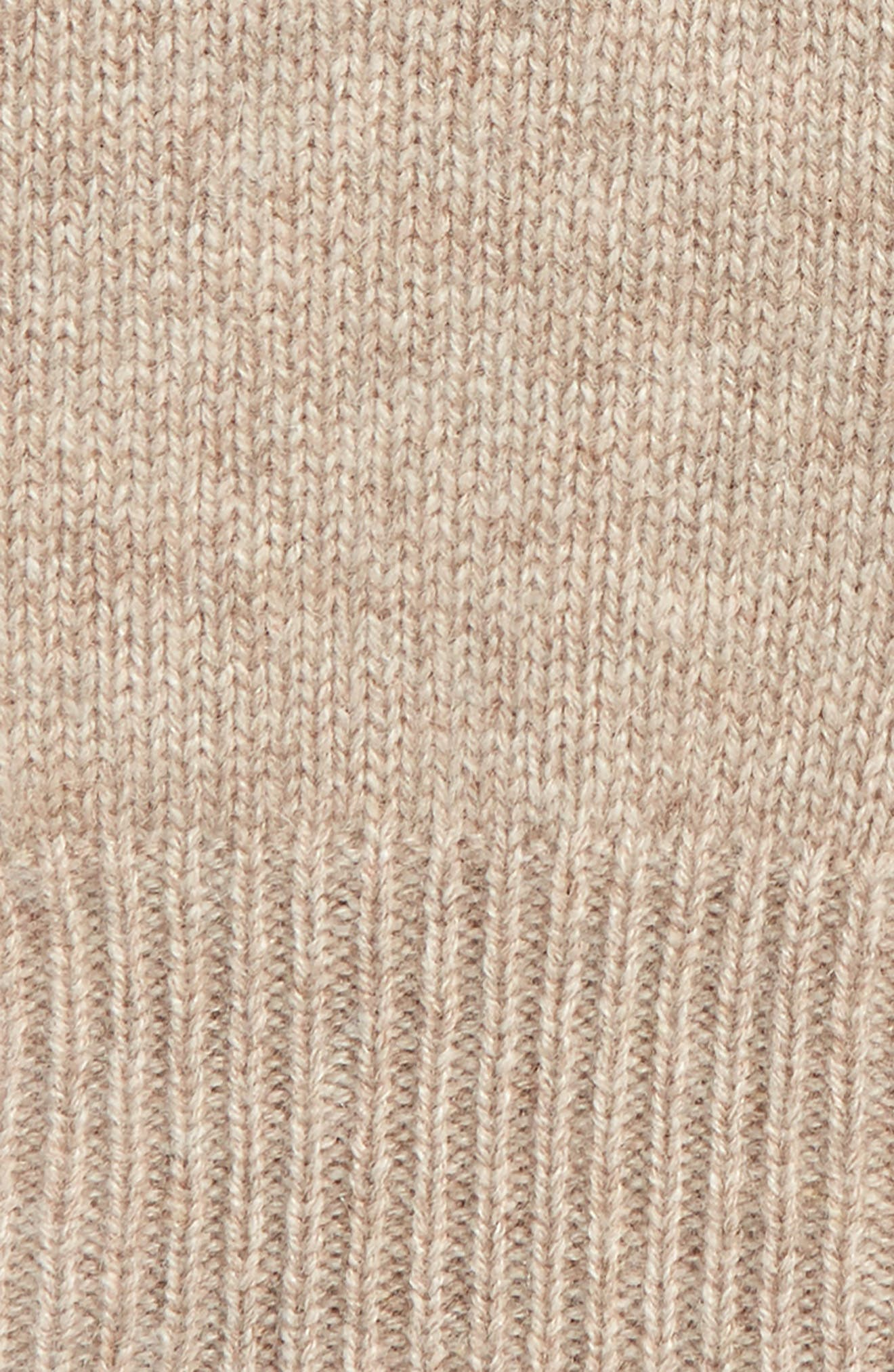 Rib Knit Cashmere Gloves,                             Alternate thumbnail 2, color,                             BEIGE OATMEAL DARK HTR