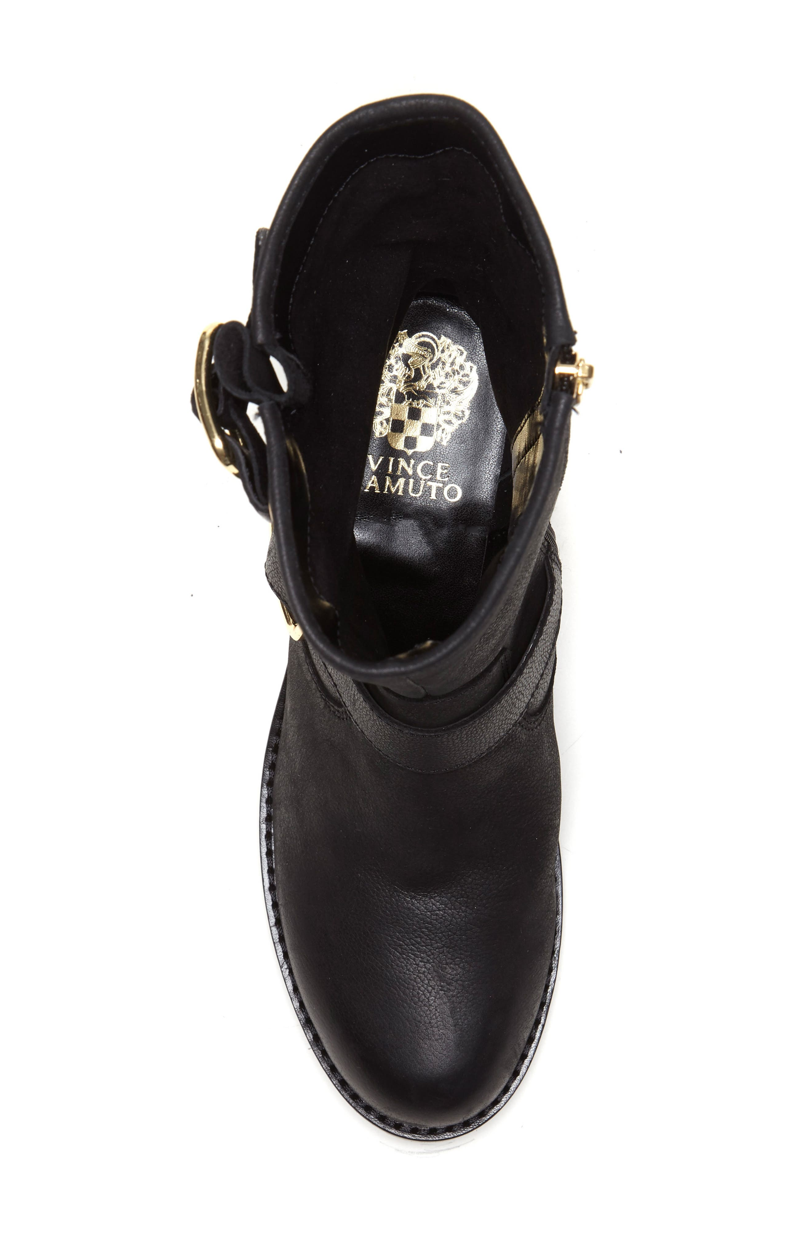 Wantilla Boot,                             Alternate thumbnail 5, color,                             BLACK LEATHER