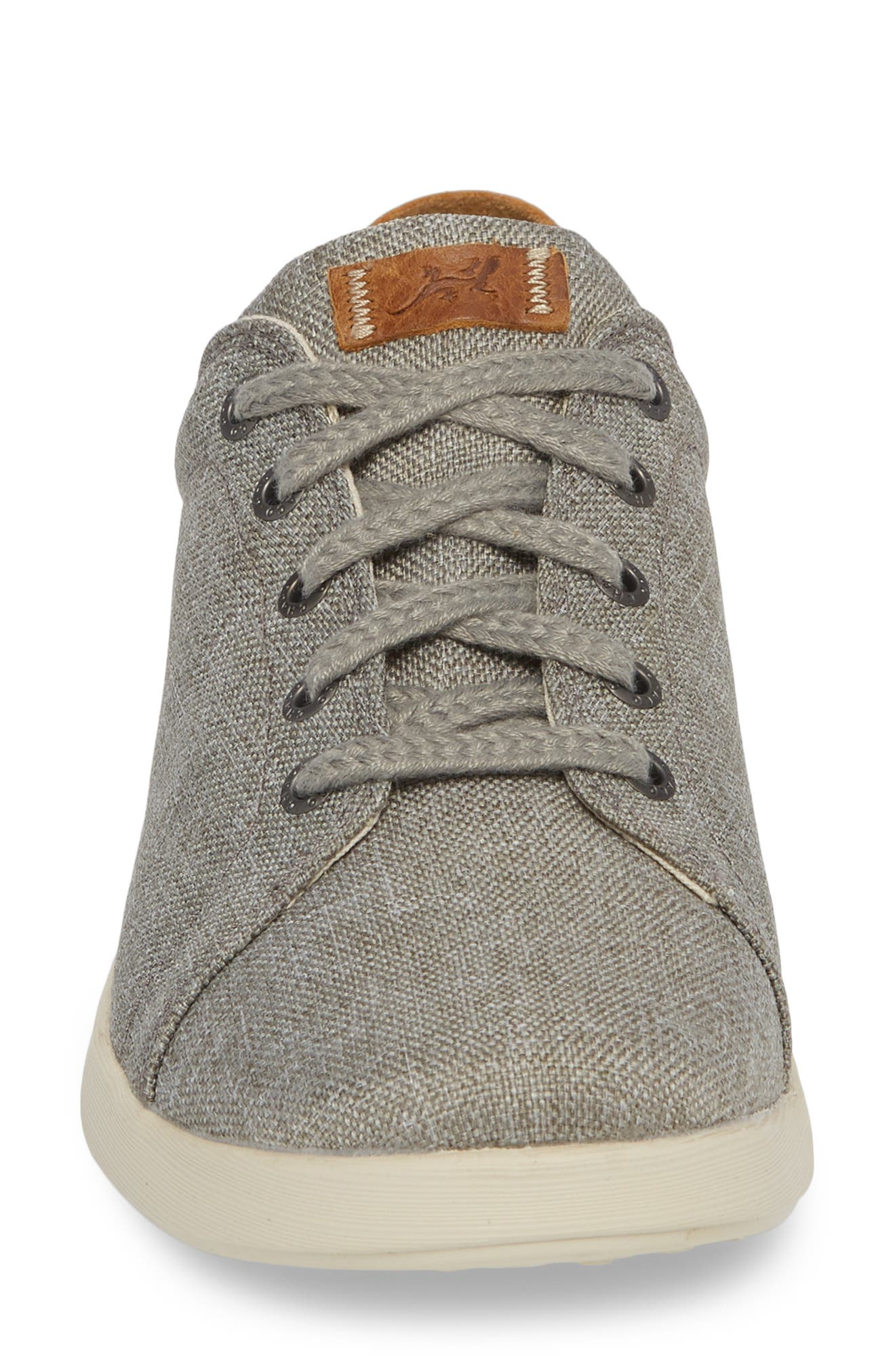 Ionia Sneaker,                             Alternate thumbnail 4, color,                             GRAY CANVAS