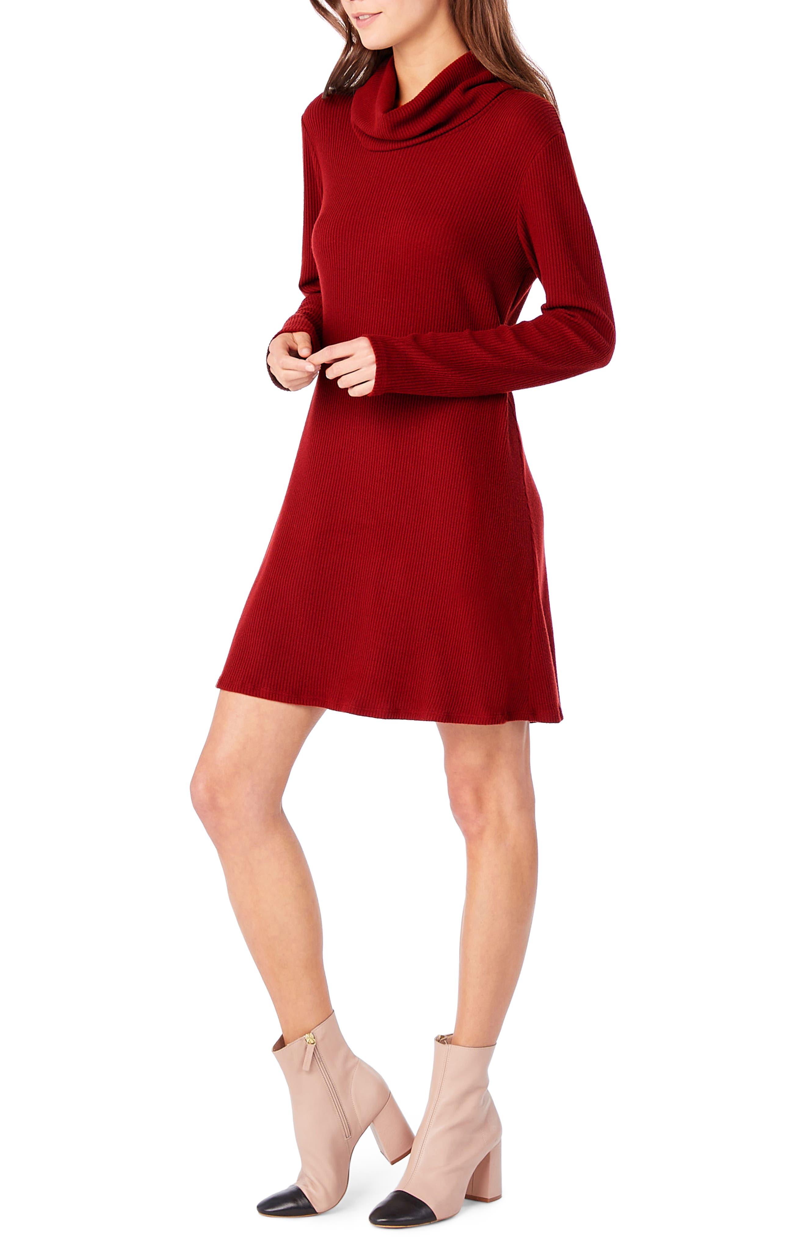 Cowl Neck Knit Dress,                             Alternate thumbnail 5, color,