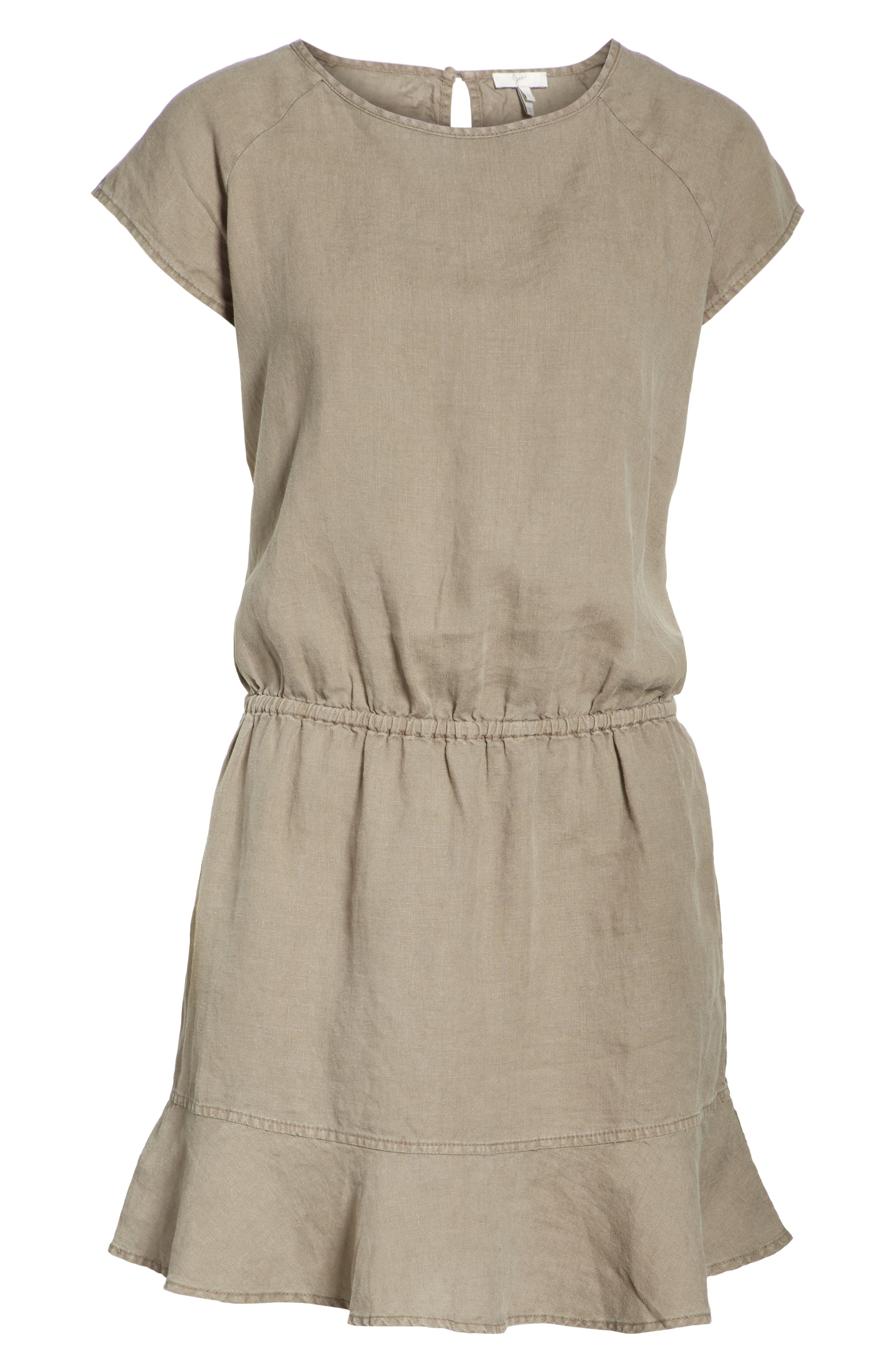 Quora Ruffle Linen Dress,                             Alternate thumbnail 12, color,