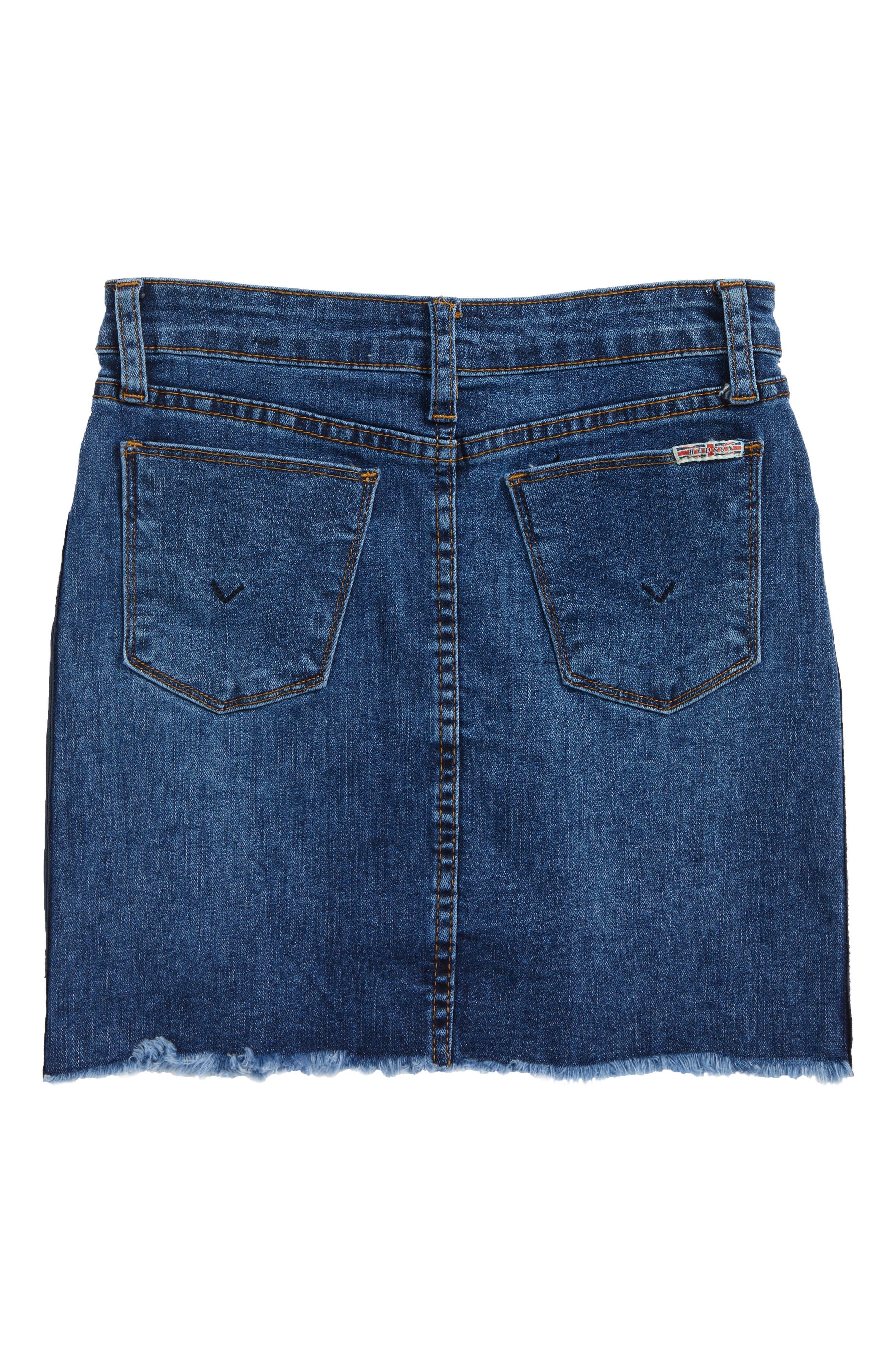 Olivia Frayed Hem Denim Skirt,                             Alternate thumbnail 2, color,