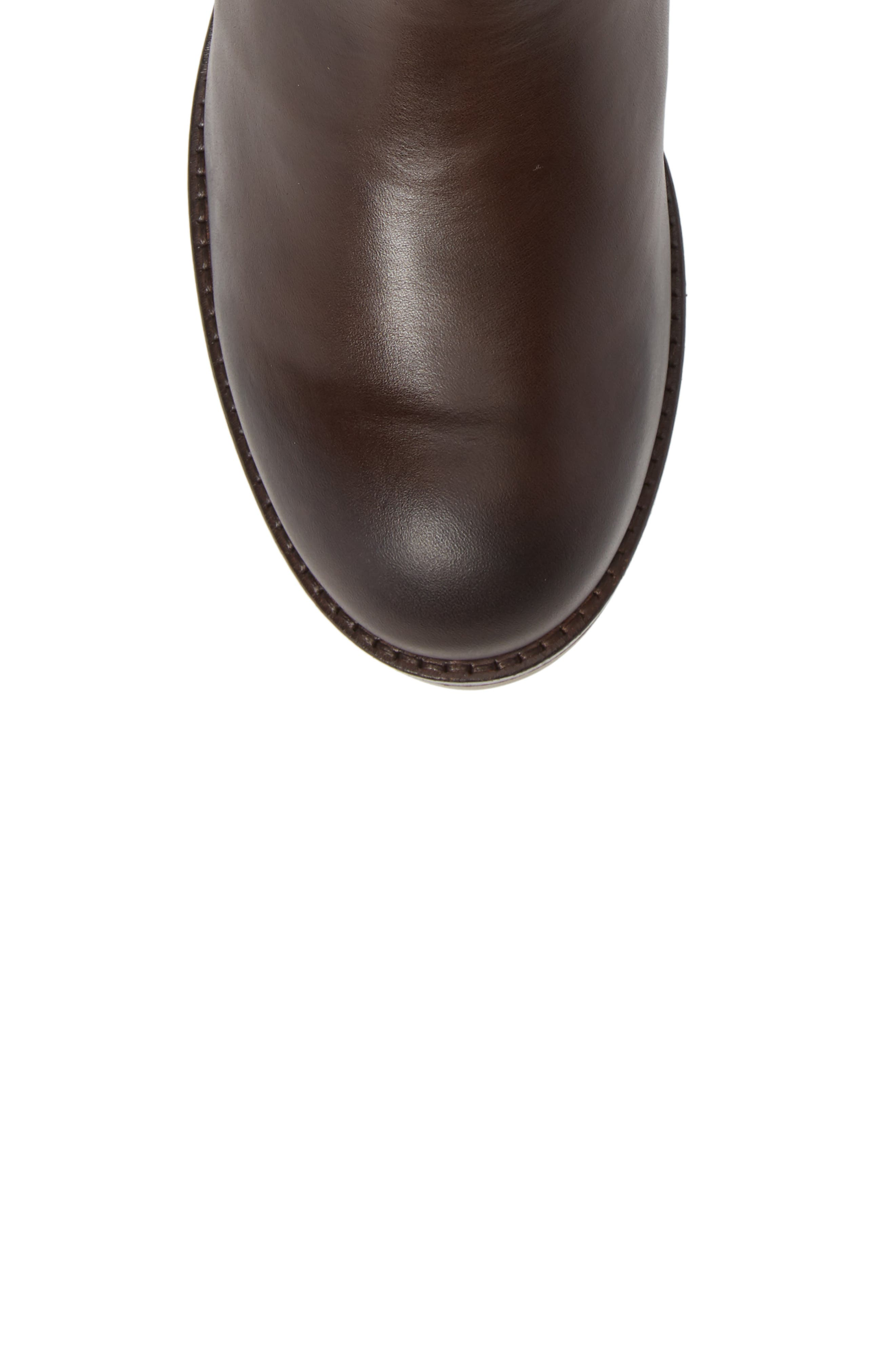 Alls Chelsea Bootie,                             Alternate thumbnail 5, color,                             DARK BROWN LEATHER