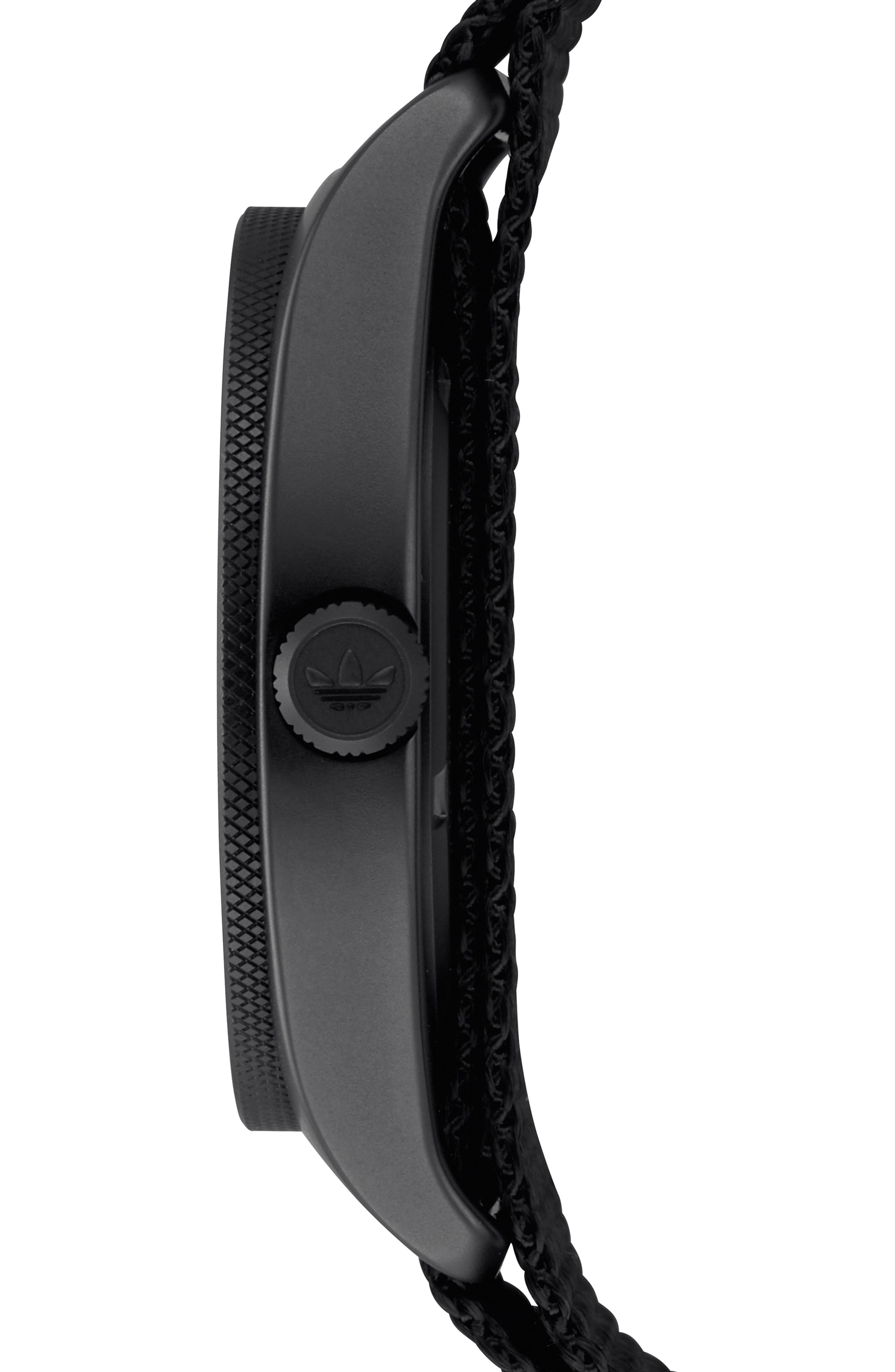 Process Interchangeable Strap Watch, 40mm,                             Alternate thumbnail 3, color,                             BLACK/ TAN