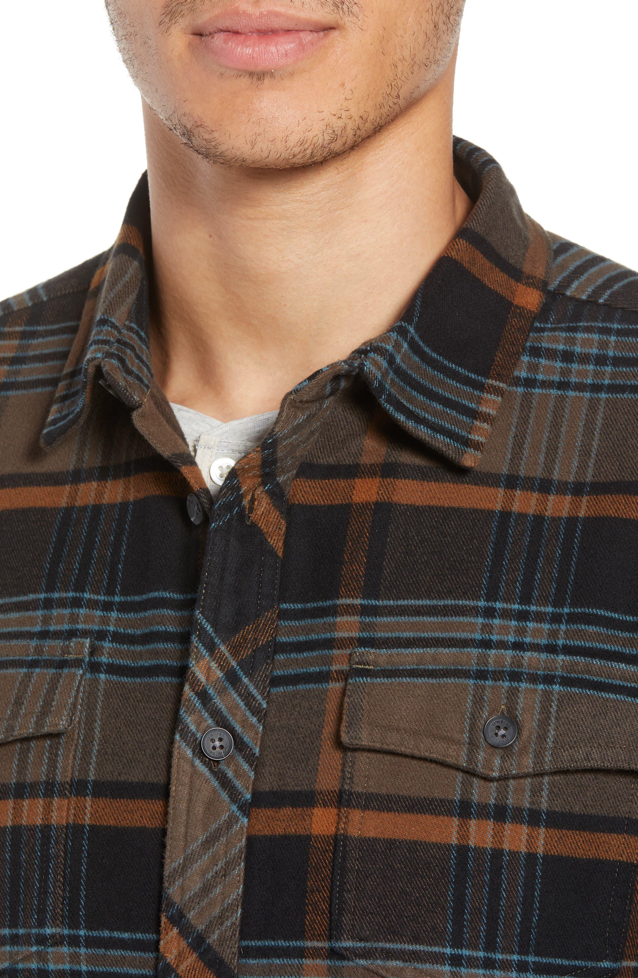 Ridgemont Flannel Shirt,                             Alternate thumbnail 4, color,                             216