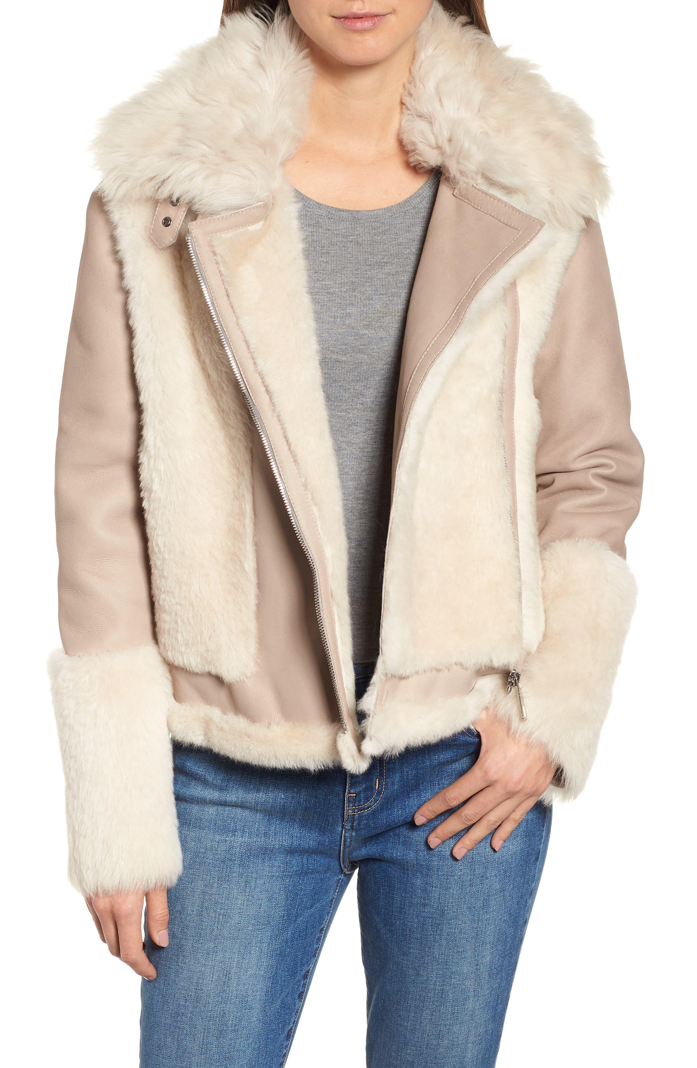 Hiso Genuine Toscana Shearling Jacket, Beige