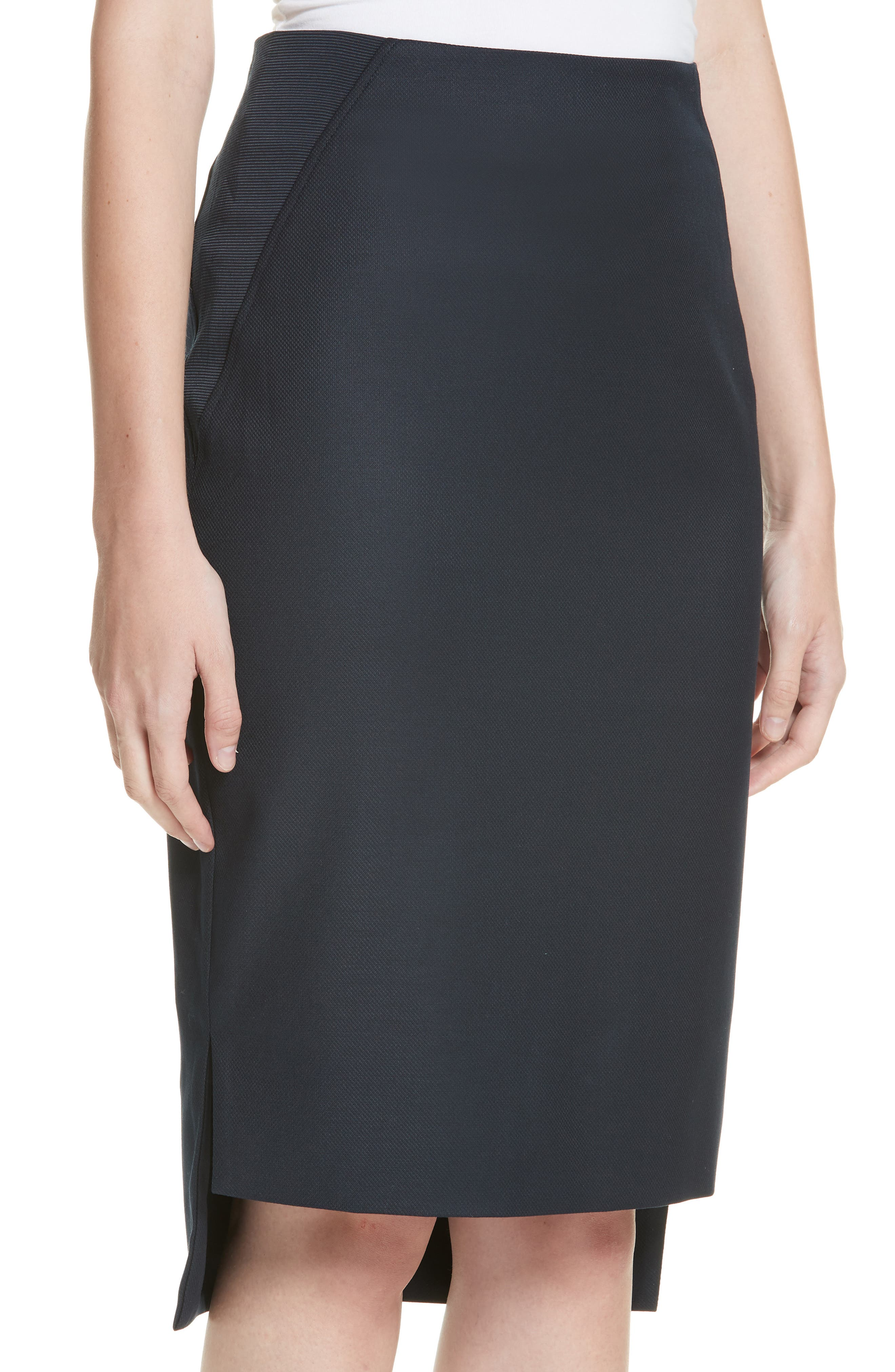 Ted Working Title Rivaas Pencil Skirt,                             Alternate thumbnail 4, color,                             DARK BLUE