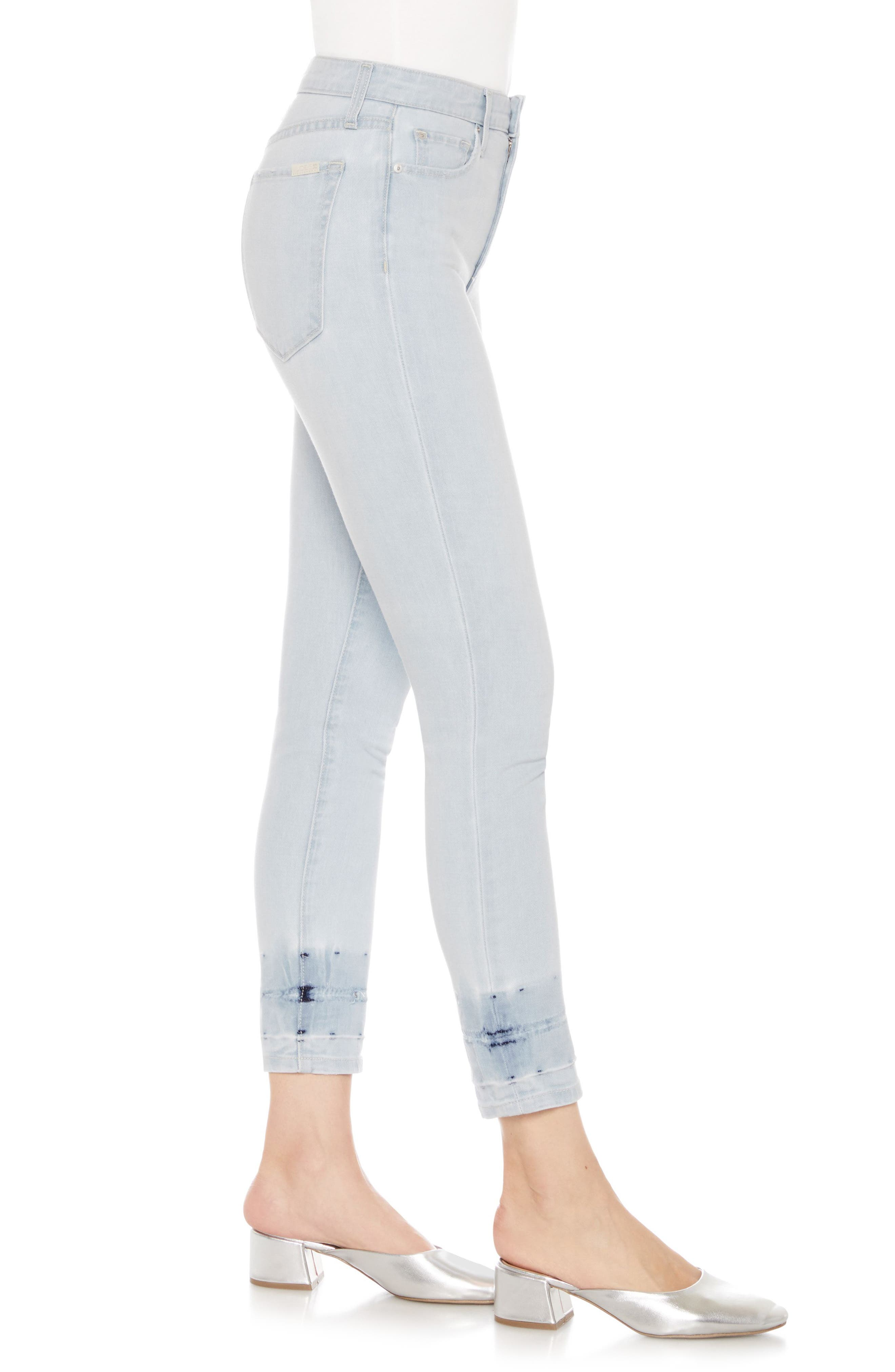The Charlie High Waist Crop Skinny Jeans,                             Alternate thumbnail 3, color,