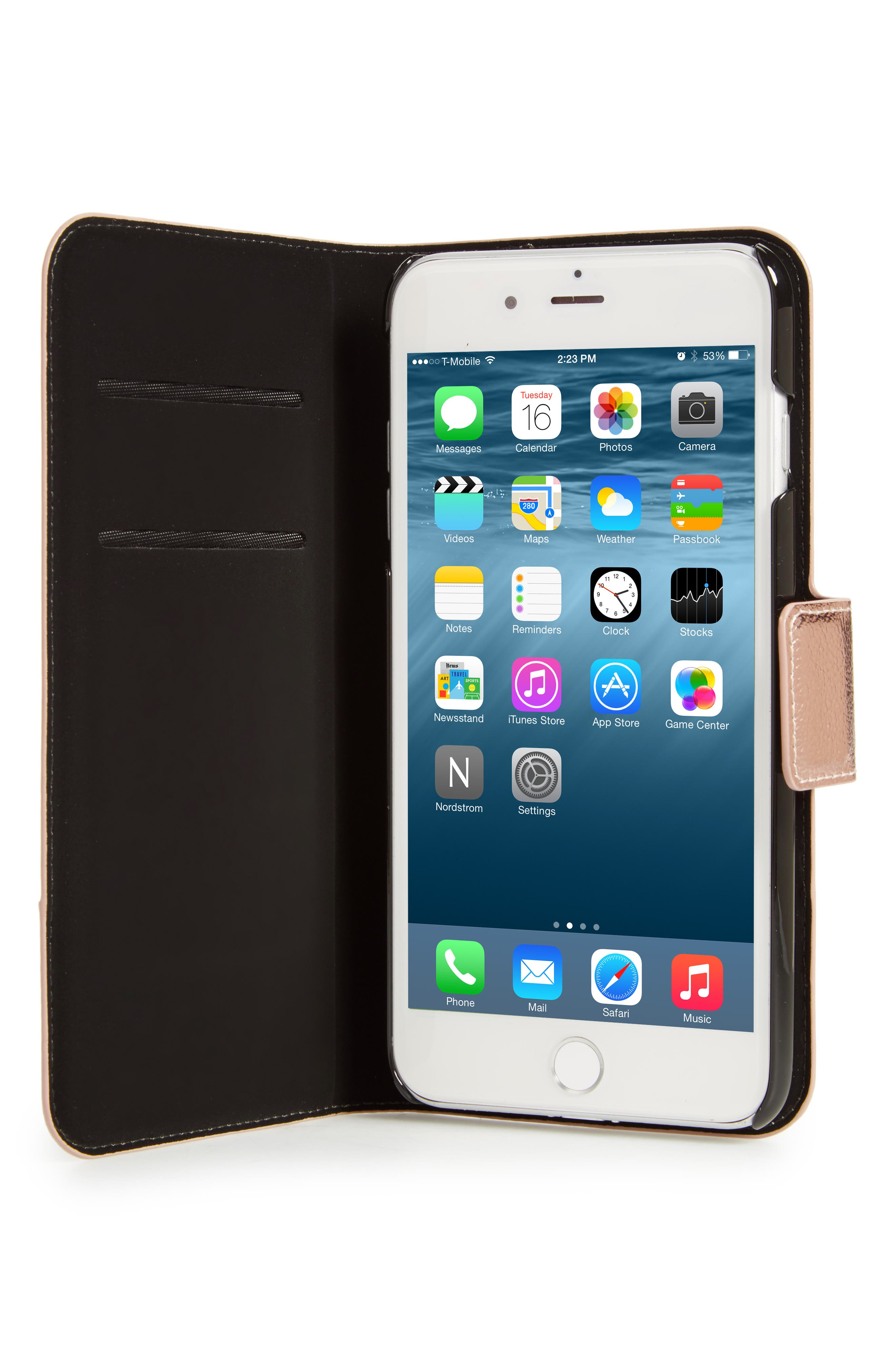 metallic leather iPhone 7/8 & 7/8 Plus case,                             Alternate thumbnail 2, color,                             650