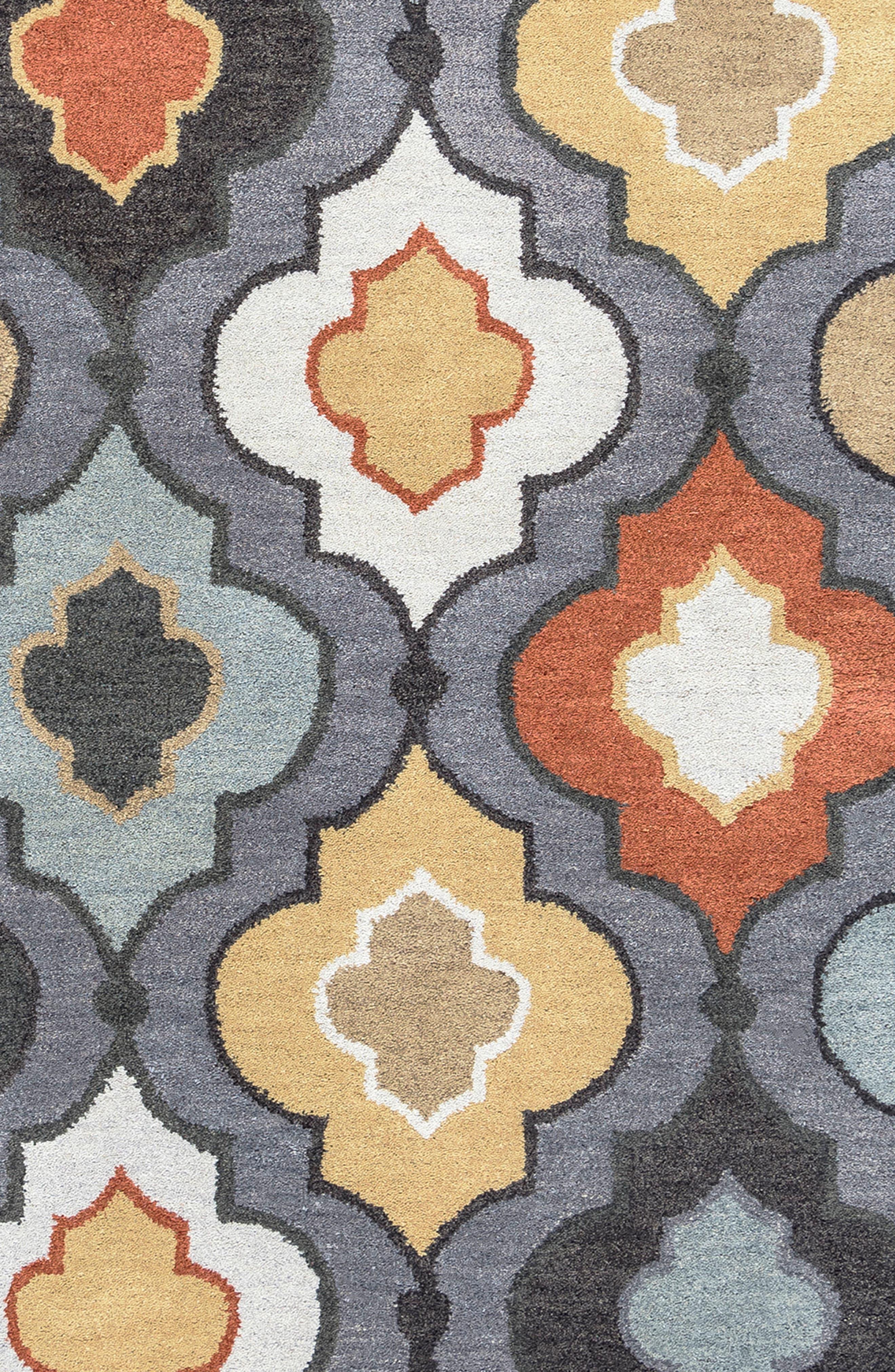 'Quatrefoil' Hand Tufted Wool Area Rug,                             Alternate thumbnail 3, color,                             030