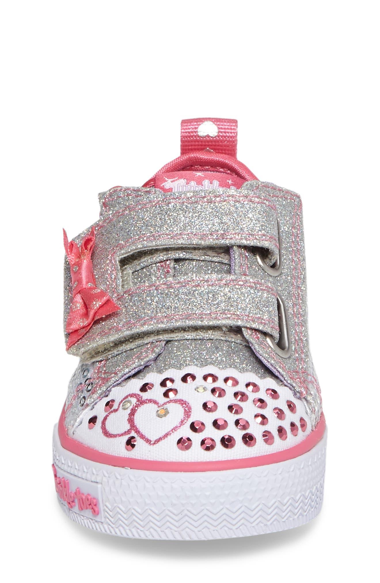 Shuffles - Itsy Bitsy Light-Up Sneaker,                             Alternate thumbnail 4, color,                             040
