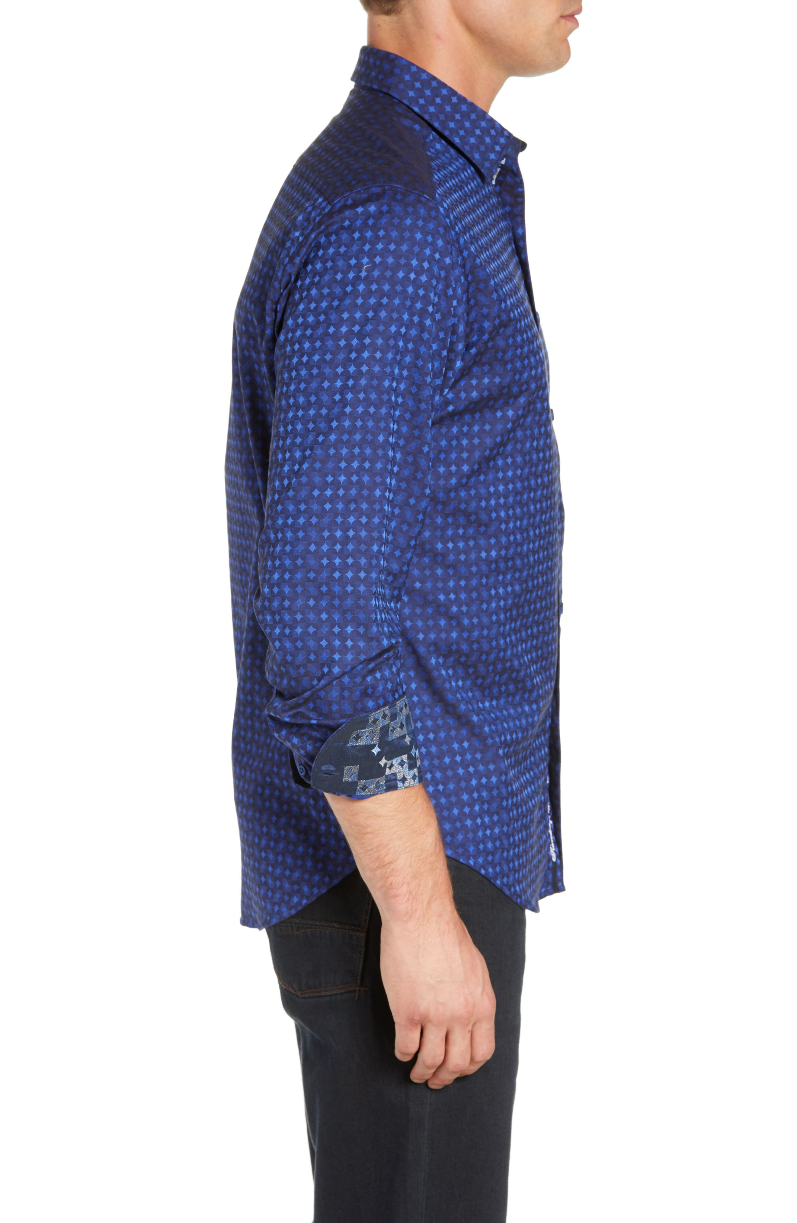 Harris Classic Fit Sport Shirt,                             Alternate thumbnail 4, color,                             BLUE
