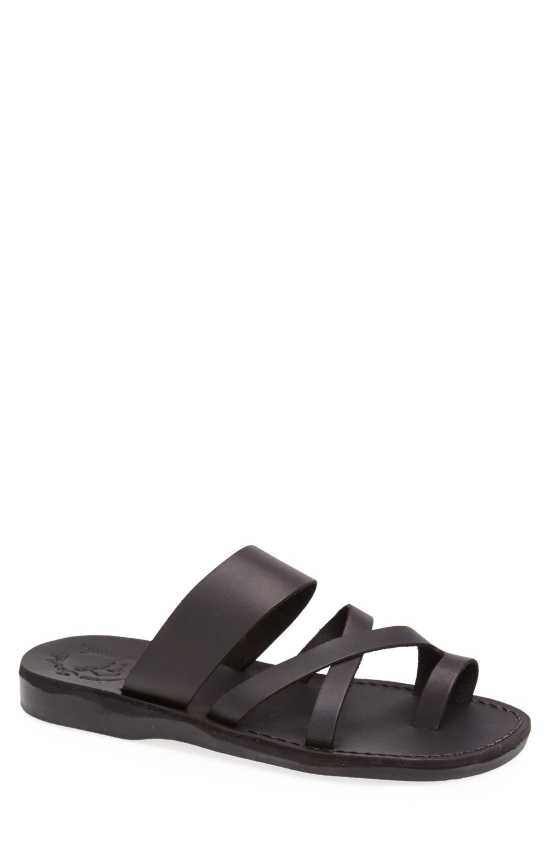 'The Good Shepherd' Leather Sandal,                             Main thumbnail 1, color,                             001