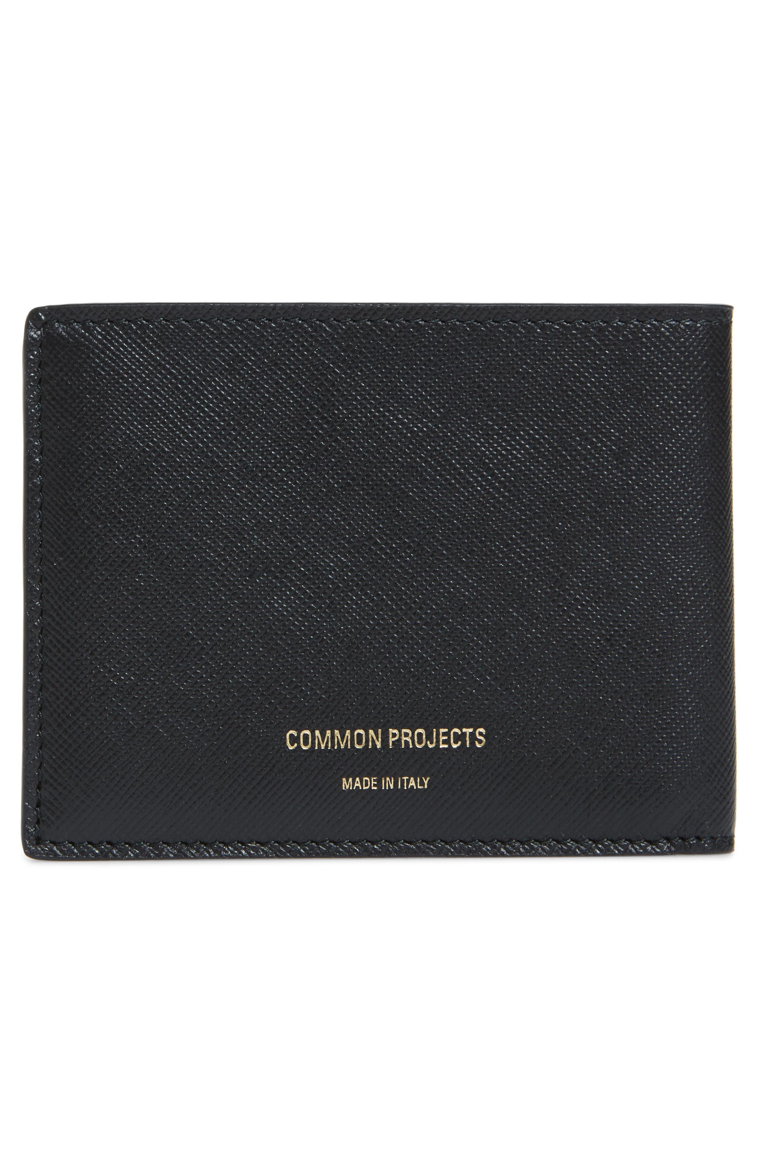 Saffiano Leather Wallet,                             Alternate thumbnail 3, color,                             BLACK