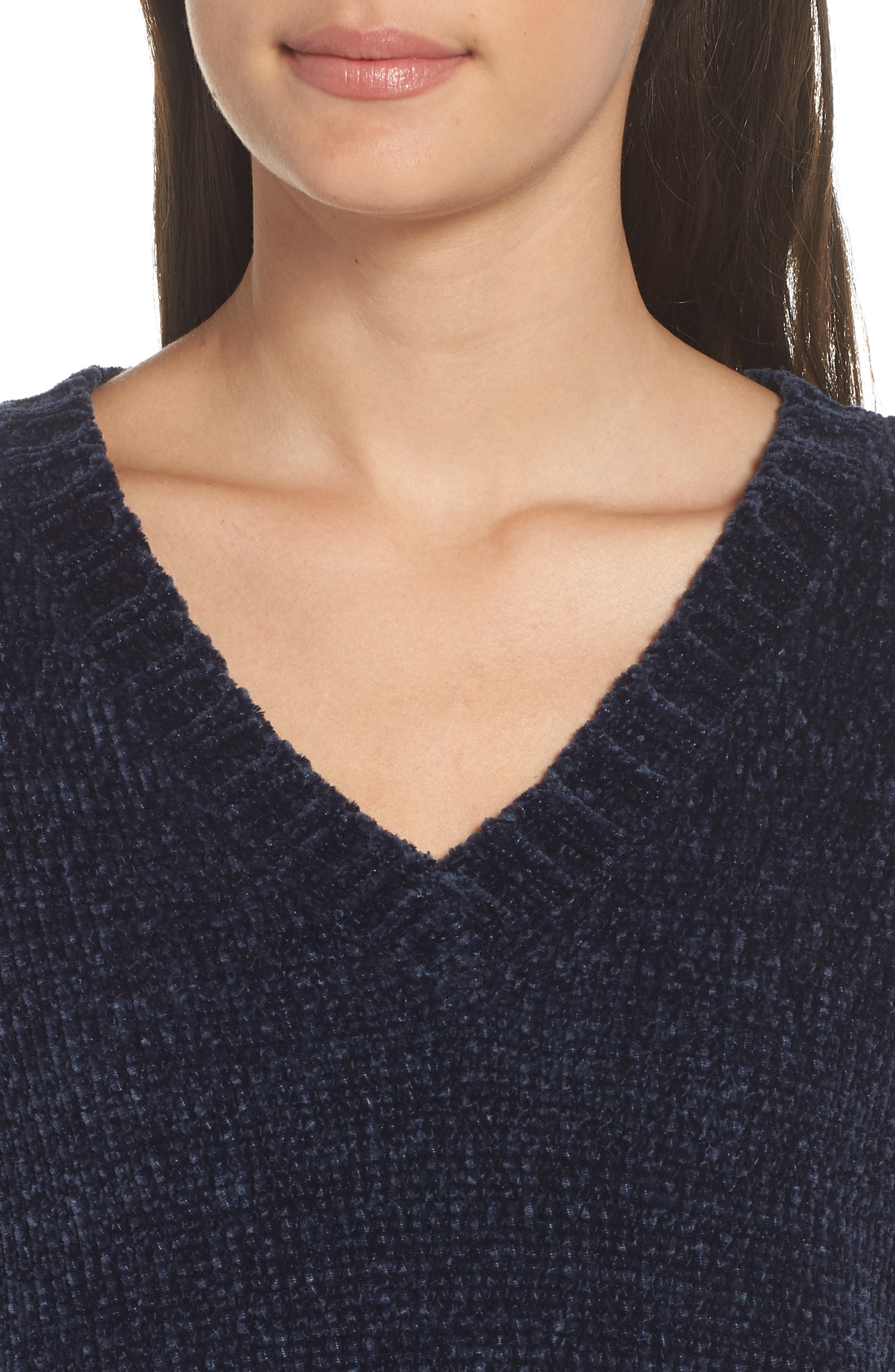 Crop Chenille Sweater,                             Alternate thumbnail 4, color,                             410