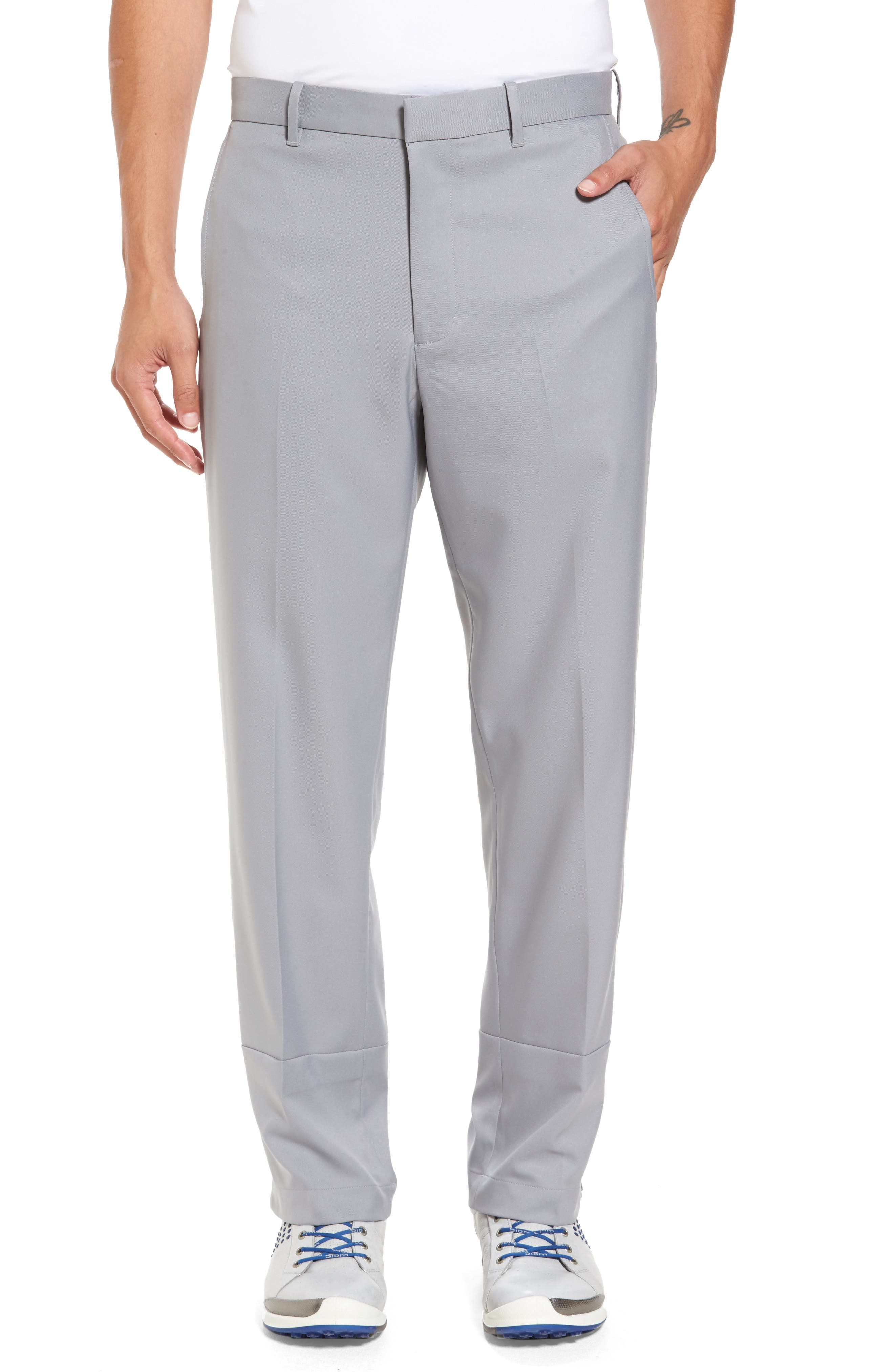 'Tech' Flat Front Wrinkle Free Golf Pants,                         Main,                         color, 052