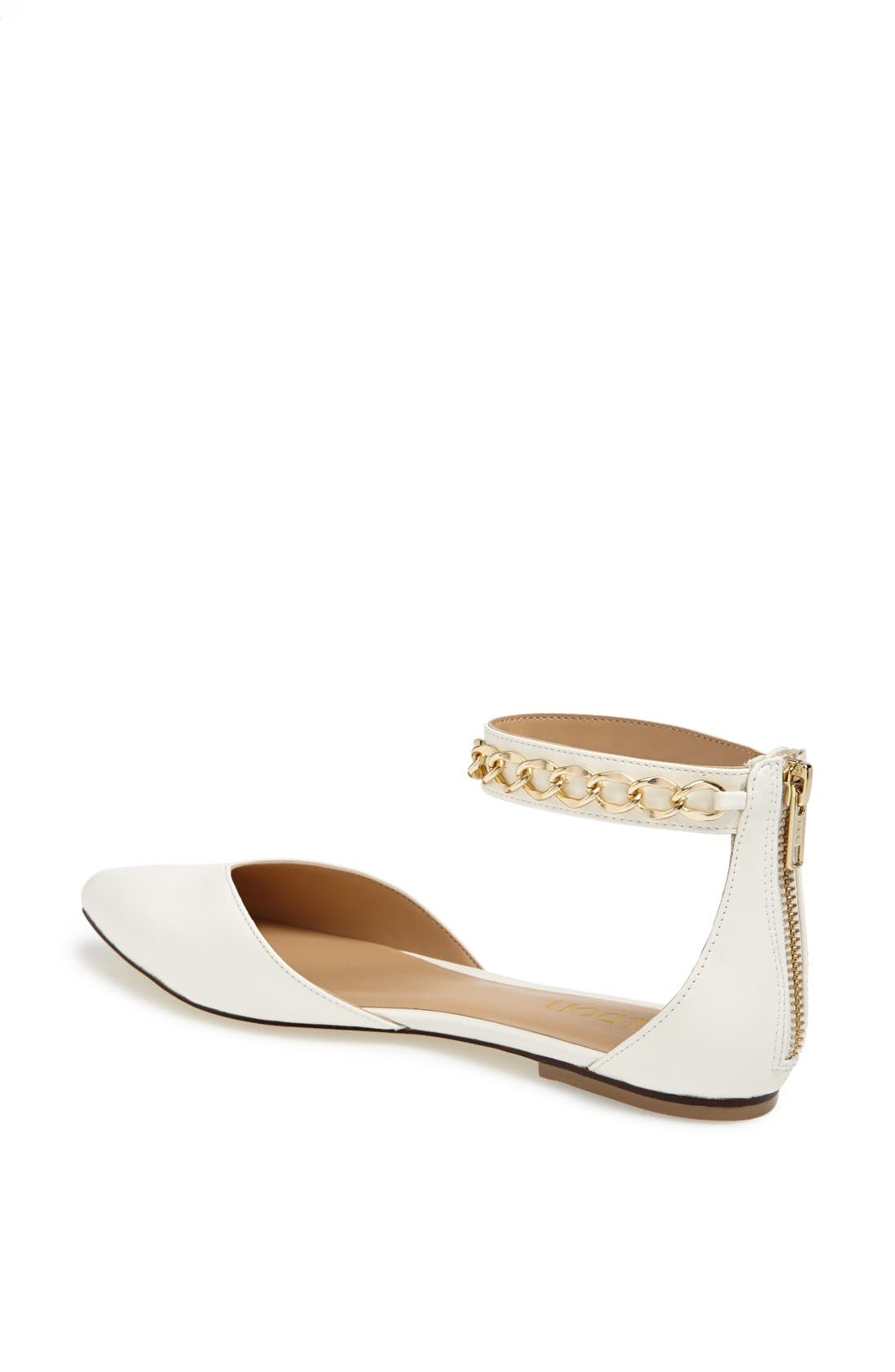 'Anya' Ankle Strap D'Orsay Flat,                             Alternate thumbnail 14, color,