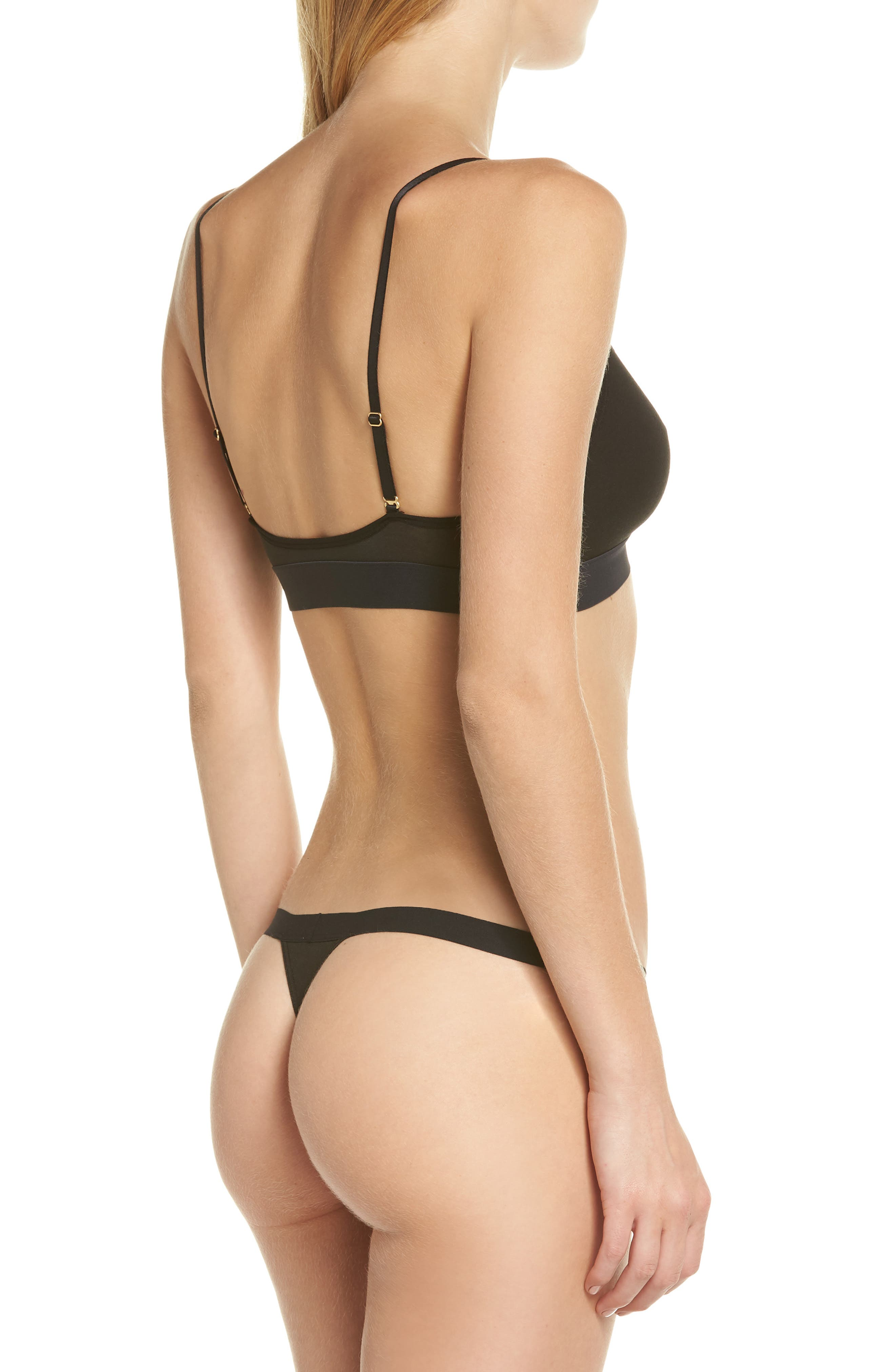 Micromodal Thong,                             Alternate thumbnail 8, color,                             001