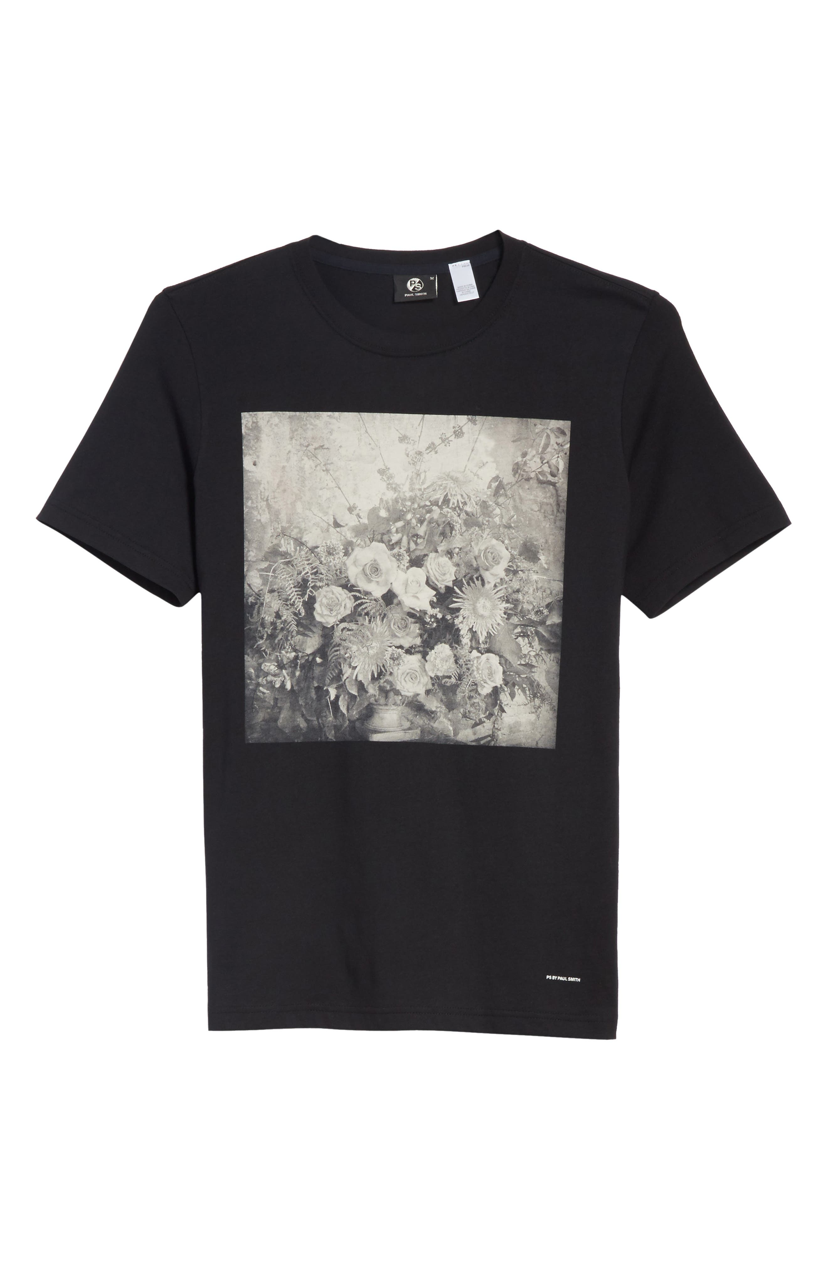 Flower Graphic T-Shirt,                             Alternate thumbnail 6, color,                             001