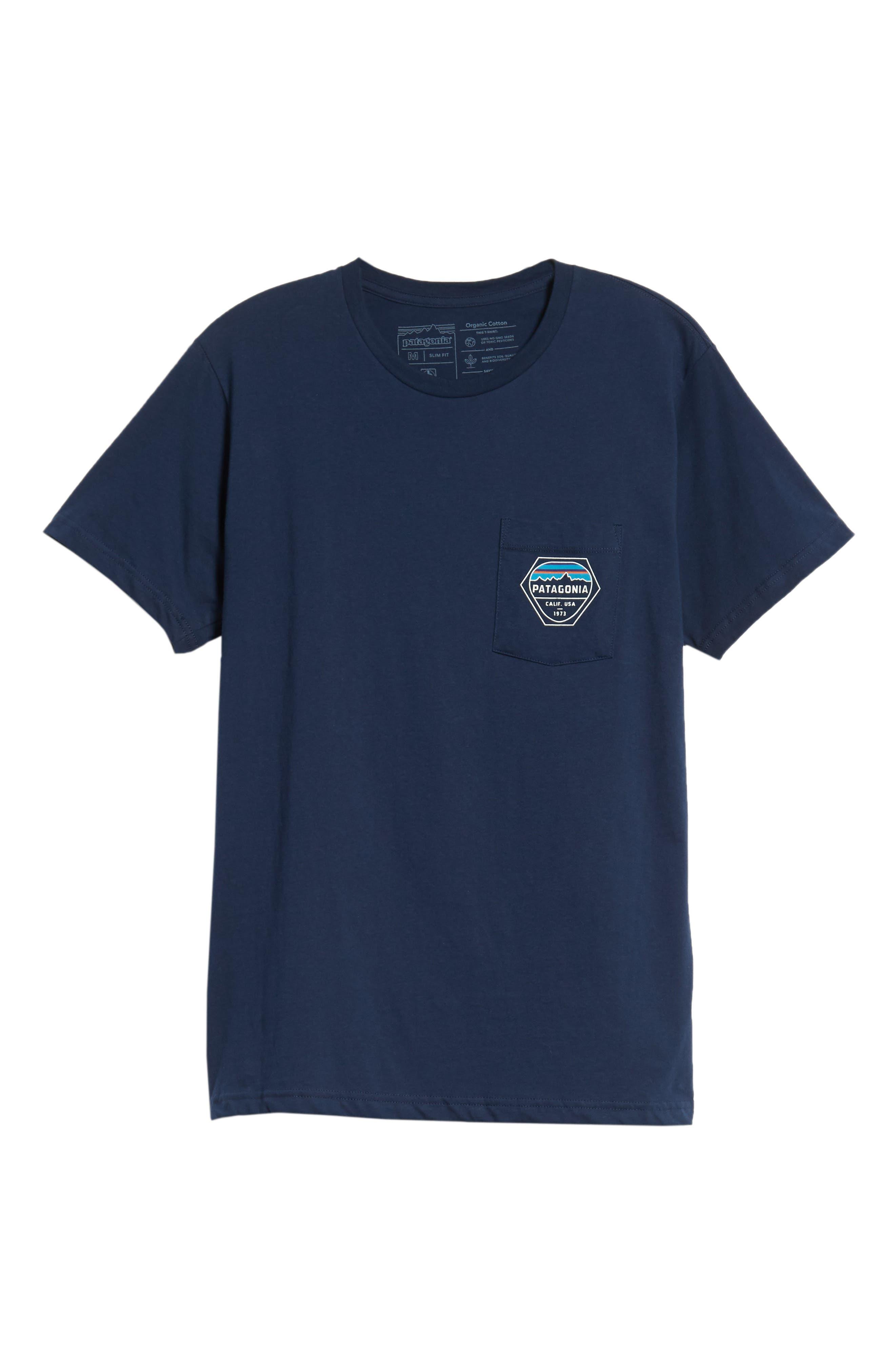 Fitz Roy Hex Pocket T-Shirt,                             Alternate thumbnail 6, color,                             CLASSIC NAVY
