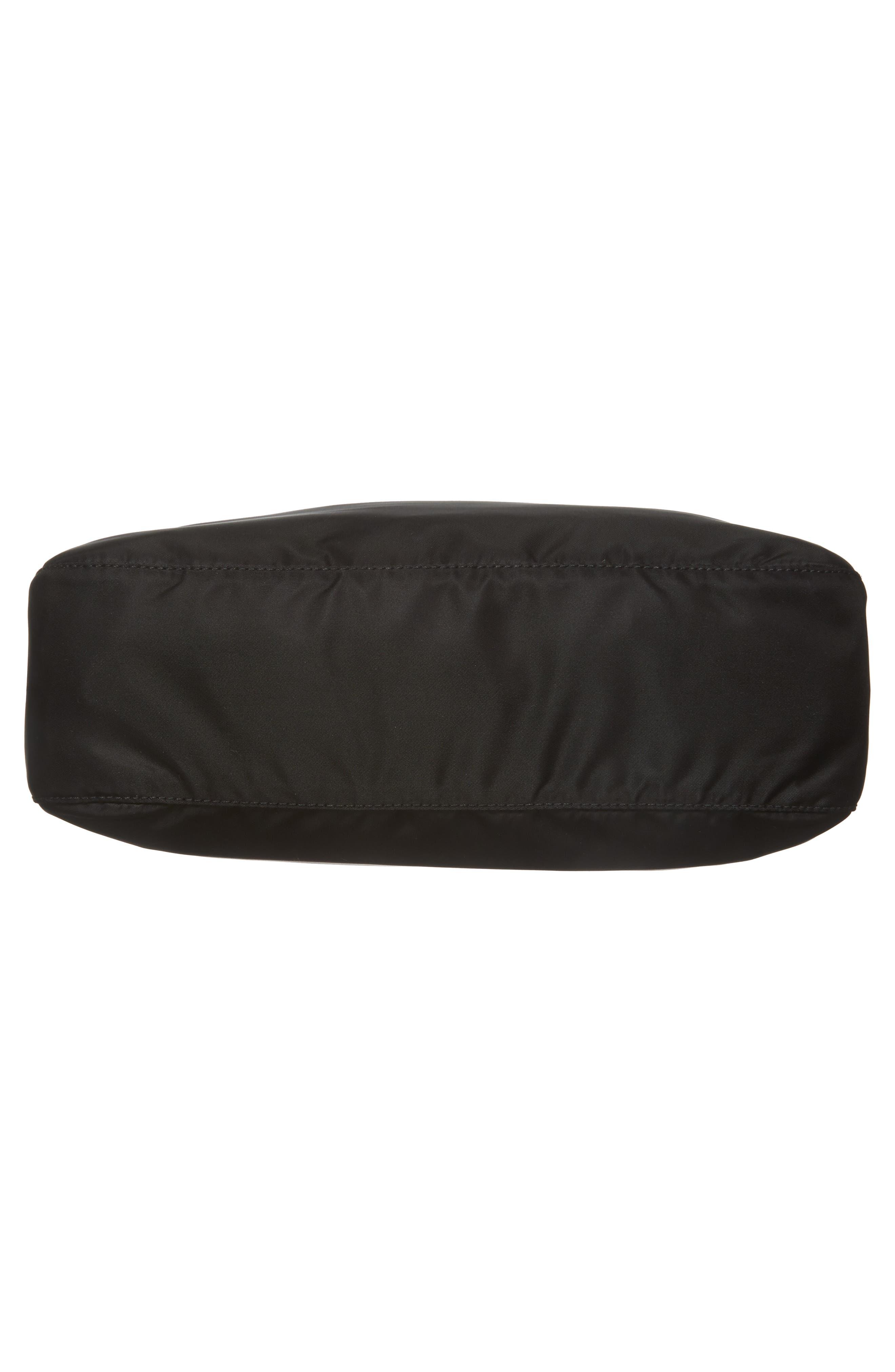 Large Nylon Crossbody Bag,                             Alternate thumbnail 6, color,                             NERO