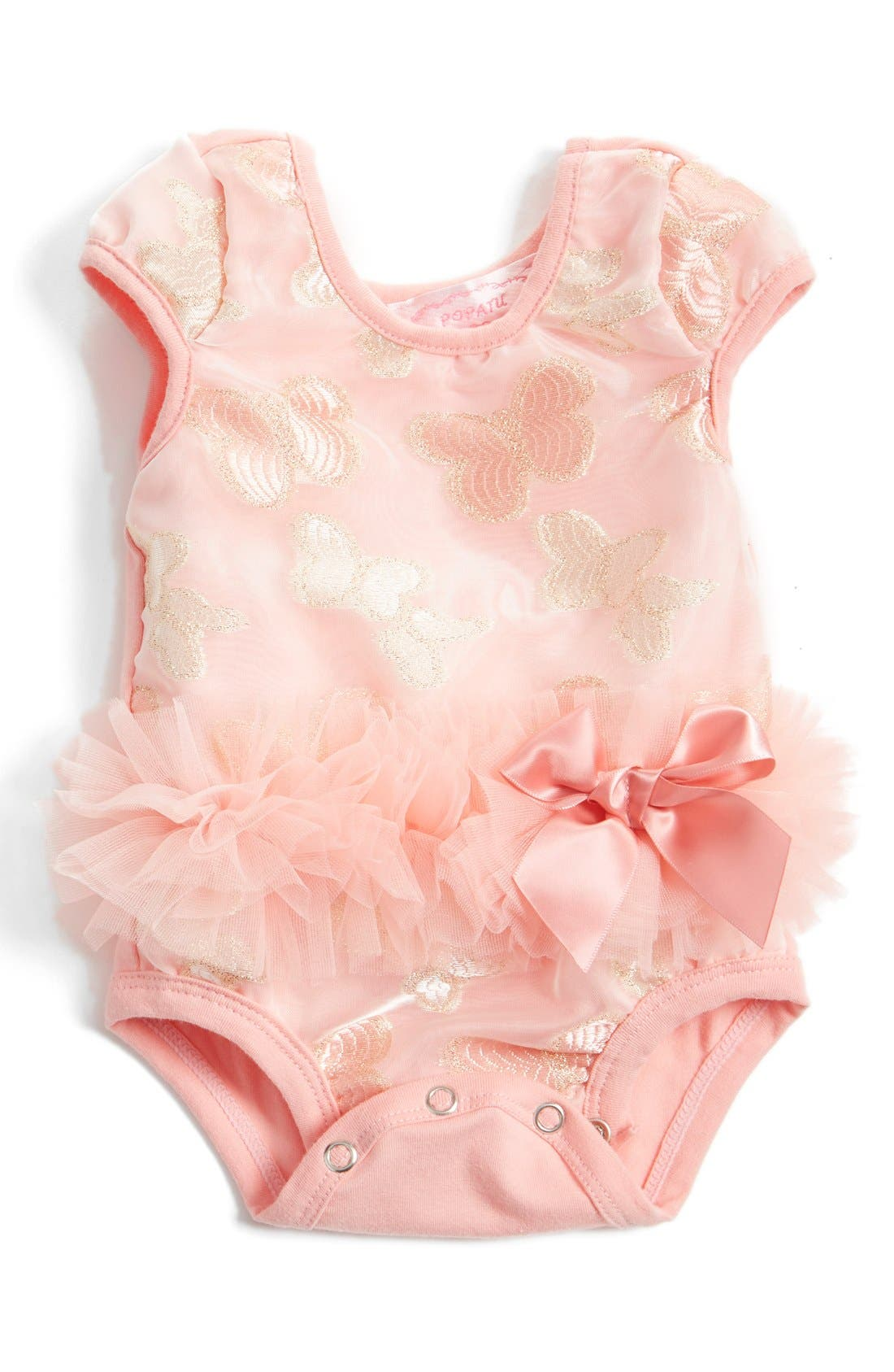 Tutu Bodysuit,                         Main,                         color, PEACH