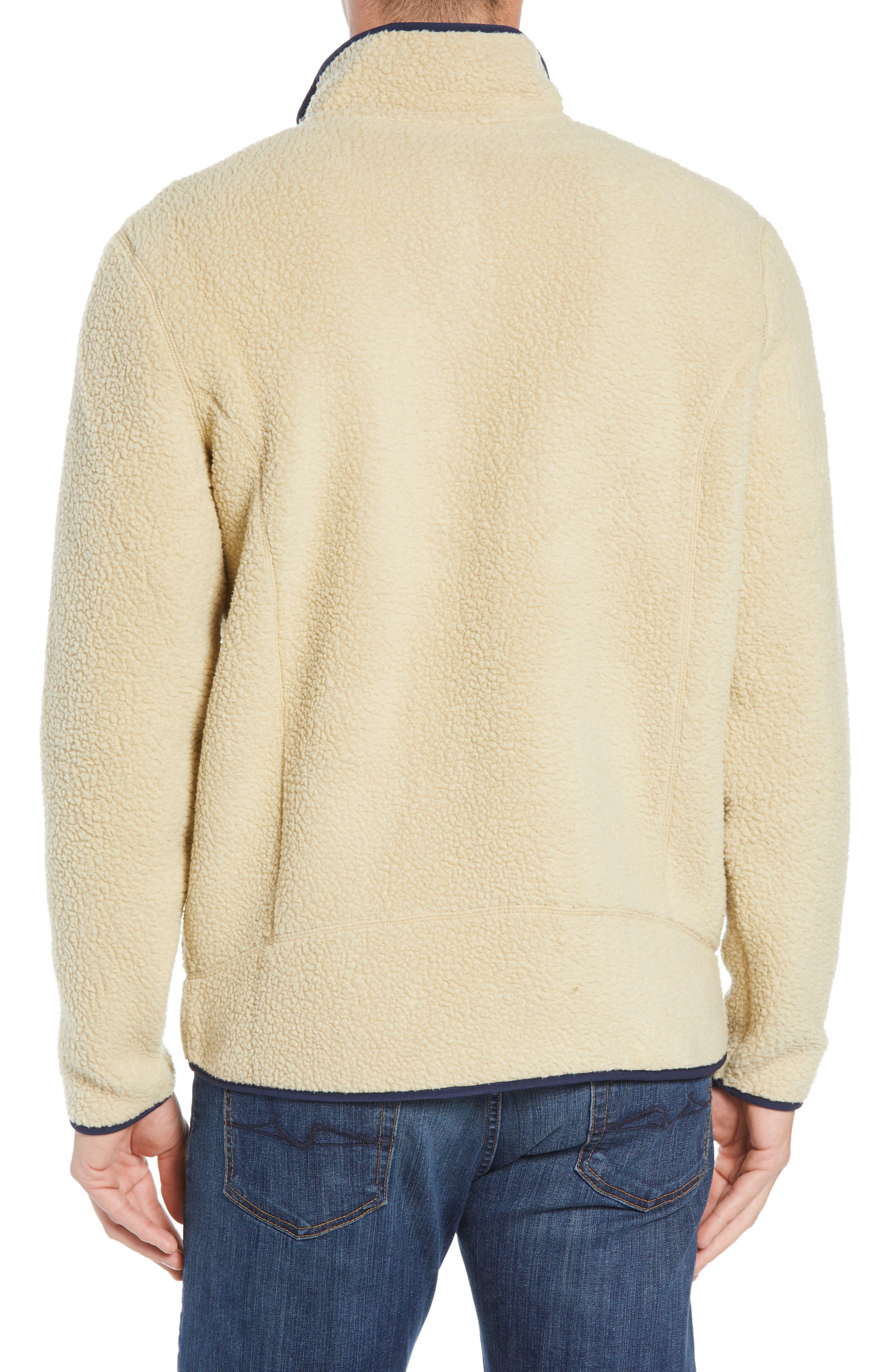 Retro Pile Fleece Zip Jacket,                             Alternate thumbnail 2, color,                             EL CAP KHAKI