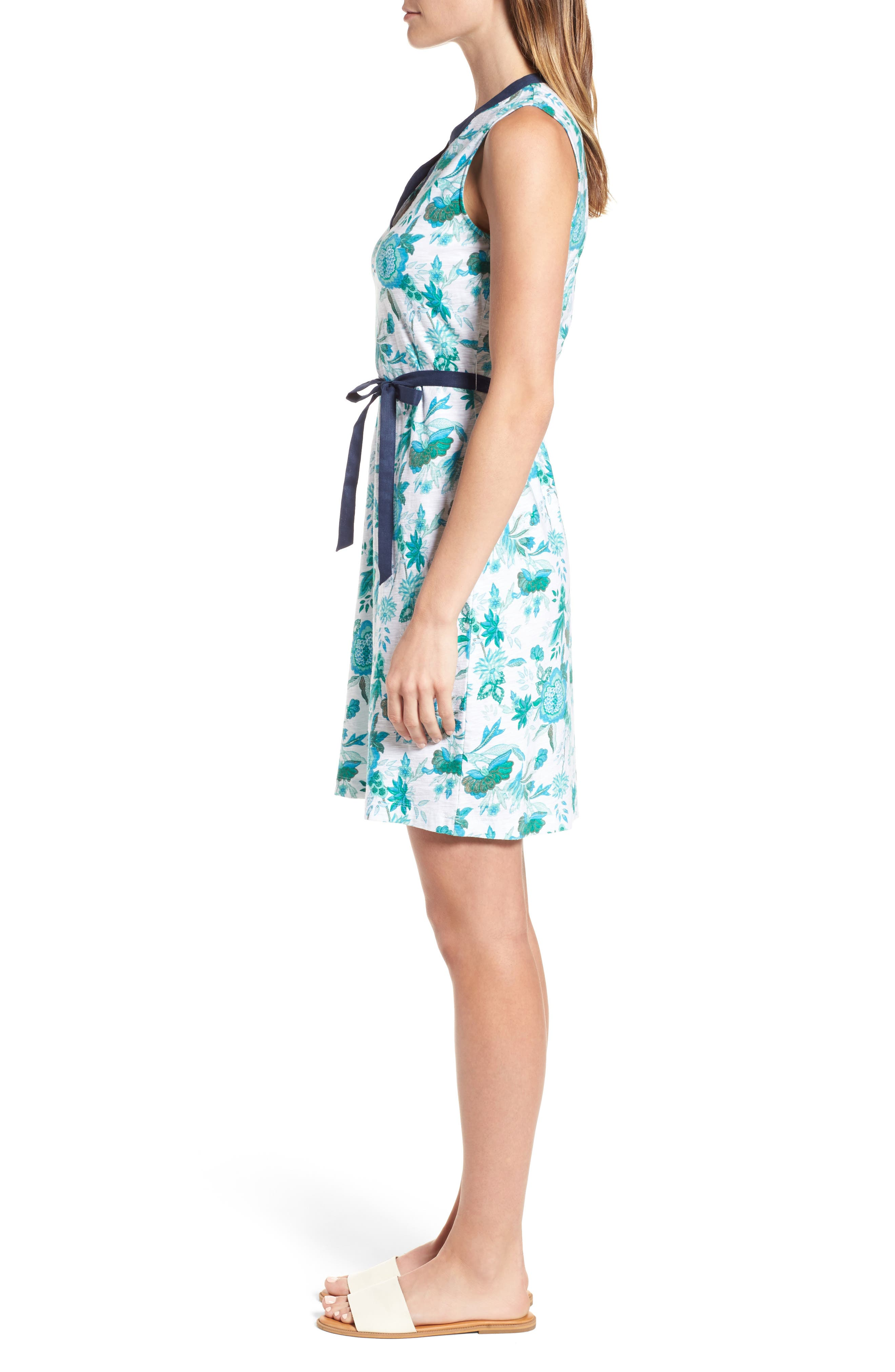 Naxos Blooms Short Jersey Dress,                             Alternate thumbnail 3, color,                             300