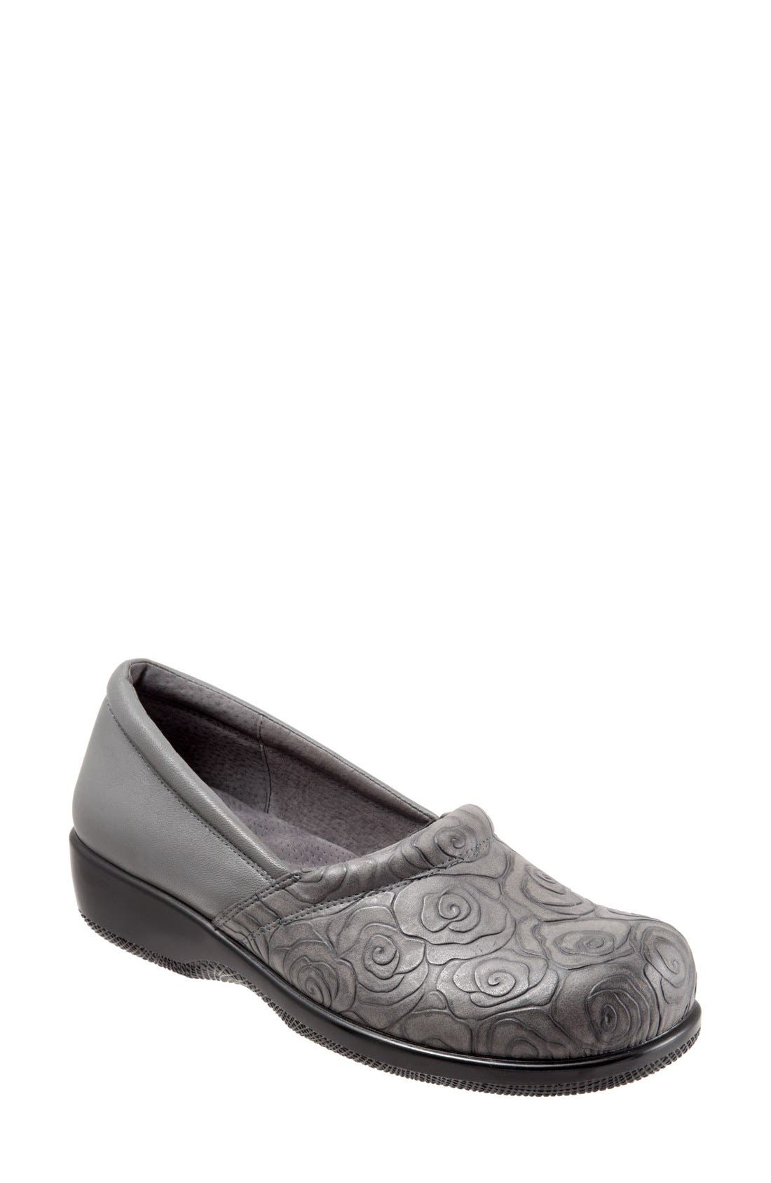 'Adora' Slip-On,                             Main thumbnail 1, color,                             GREY ROSE LEATHER
