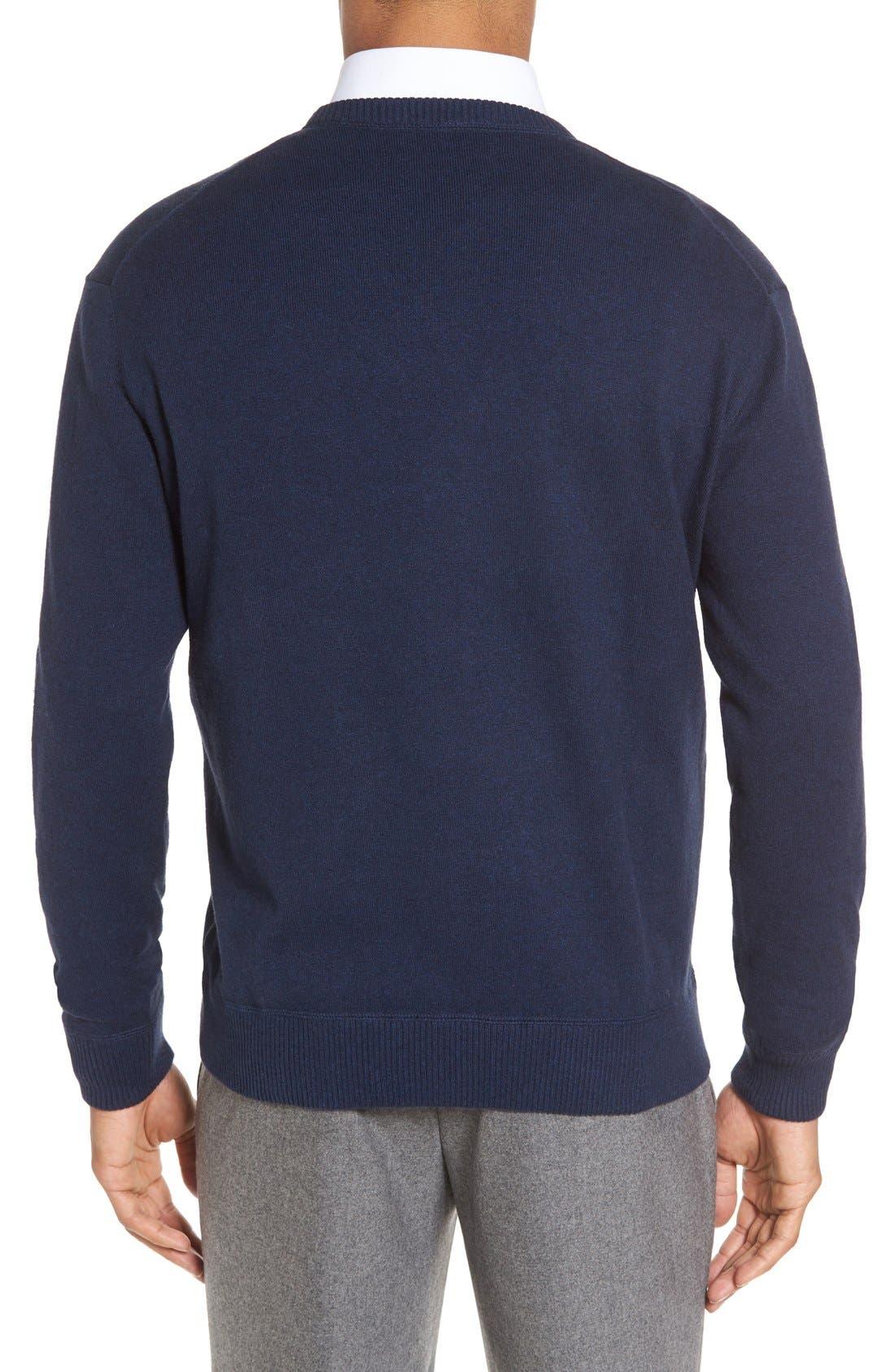 'Jersey Sport' Cotton Blend Crewneck Sweater,                             Alternate thumbnail 13, color,