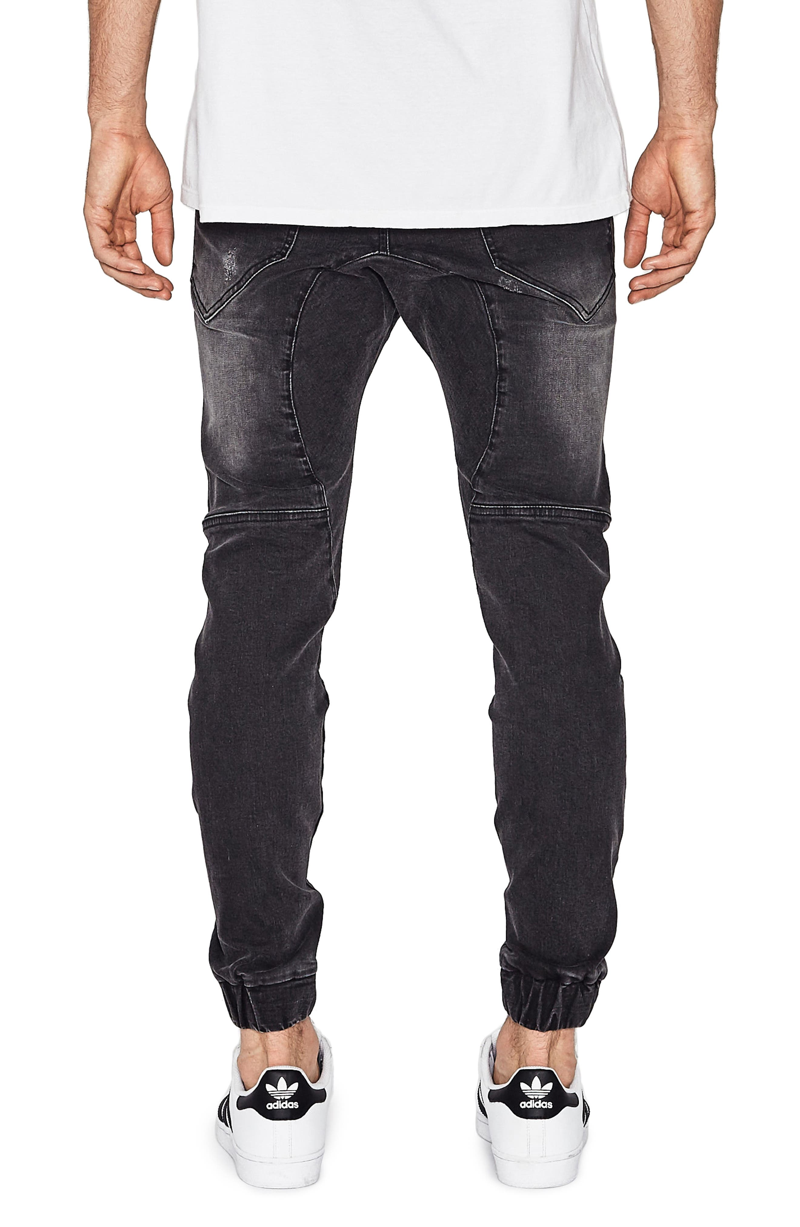 Destroyer Moto Denim Jogger Pants,                             Alternate thumbnail 2, color,                             014