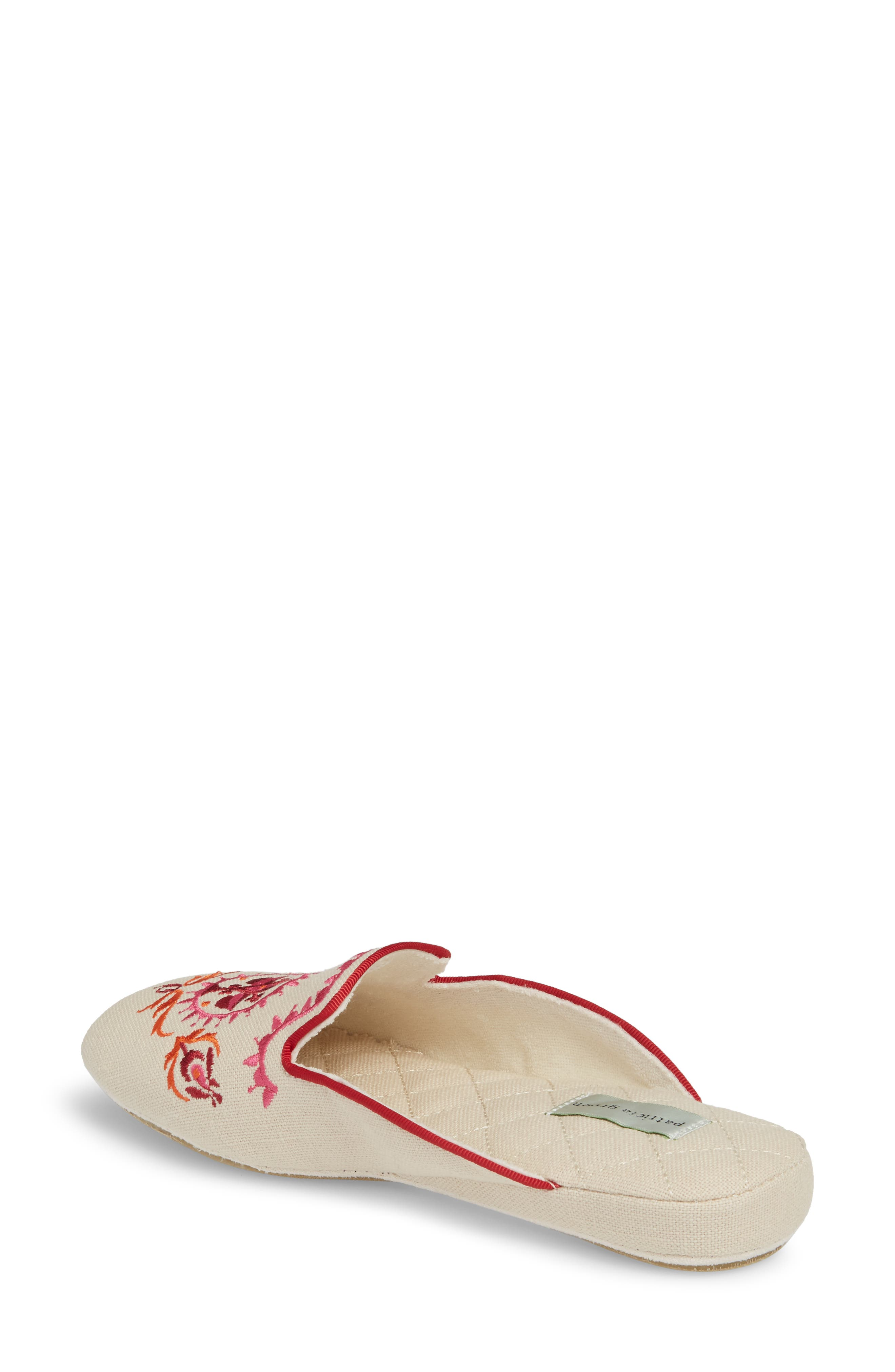 Rosa Embroidered Slipper,                             Alternate thumbnail 2, color,                             PINK FABRIC