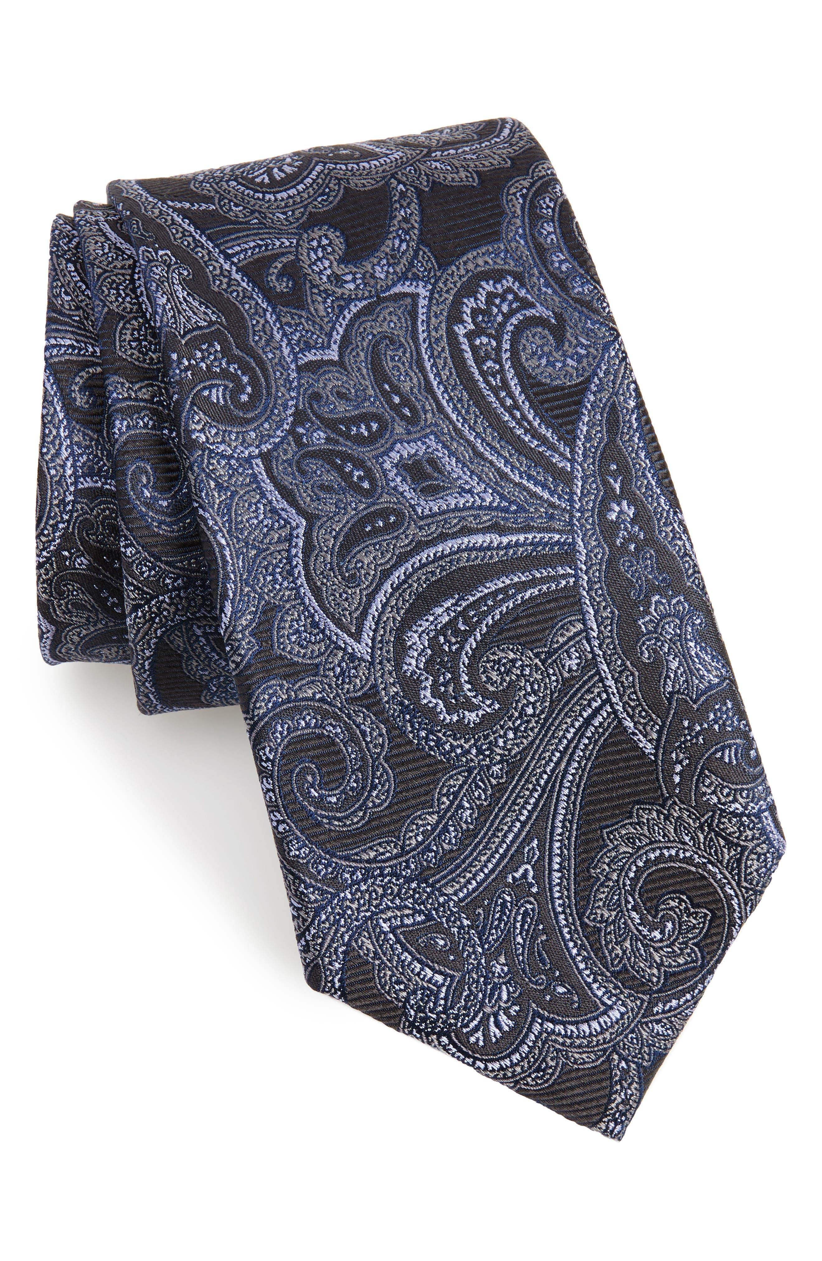 Avalon Paisley Silk Tie,                             Main thumbnail 1, color,