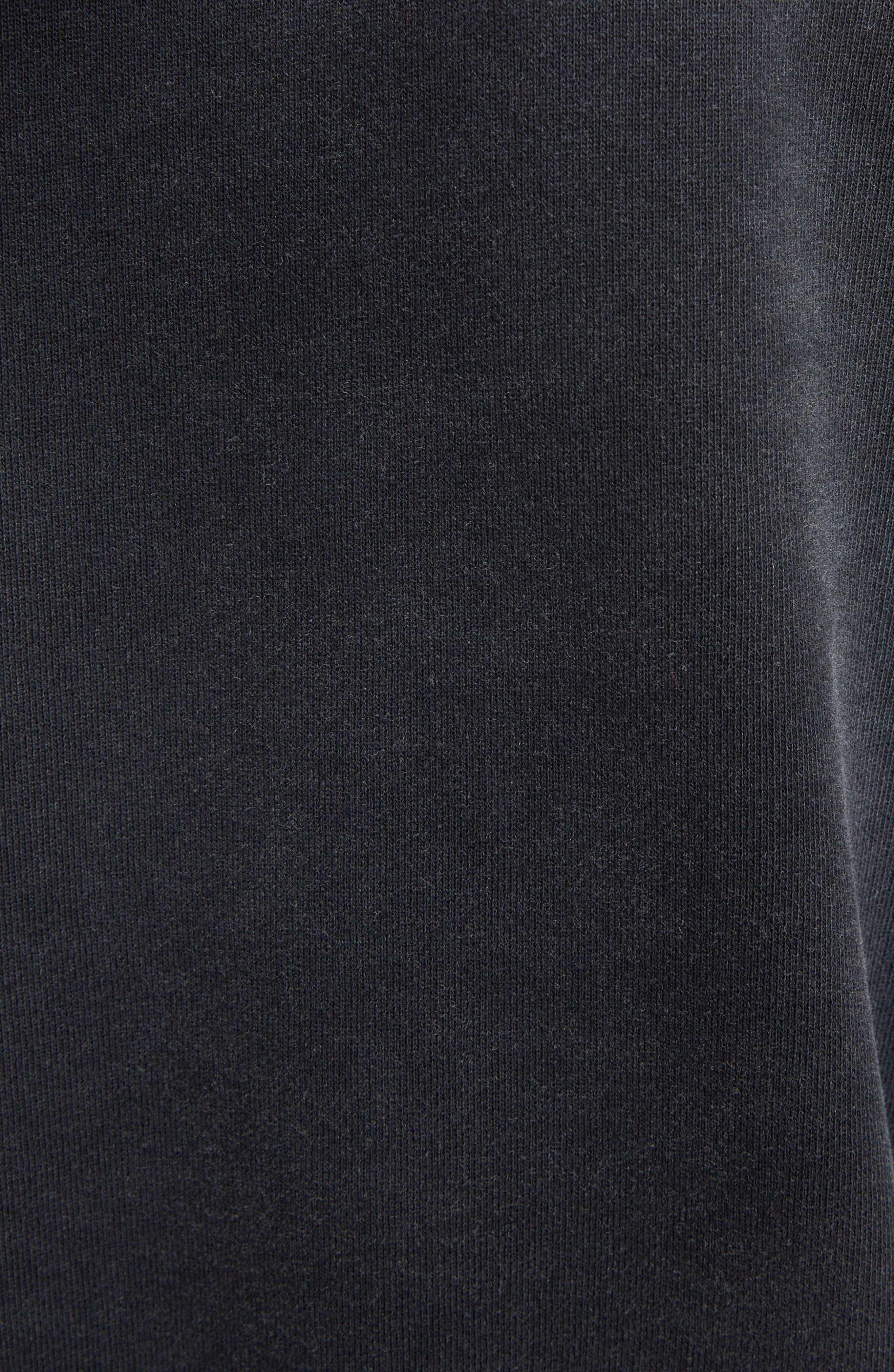 Destroyed Logo Hoodie,                             Alternate thumbnail 5, color,                             BLACK