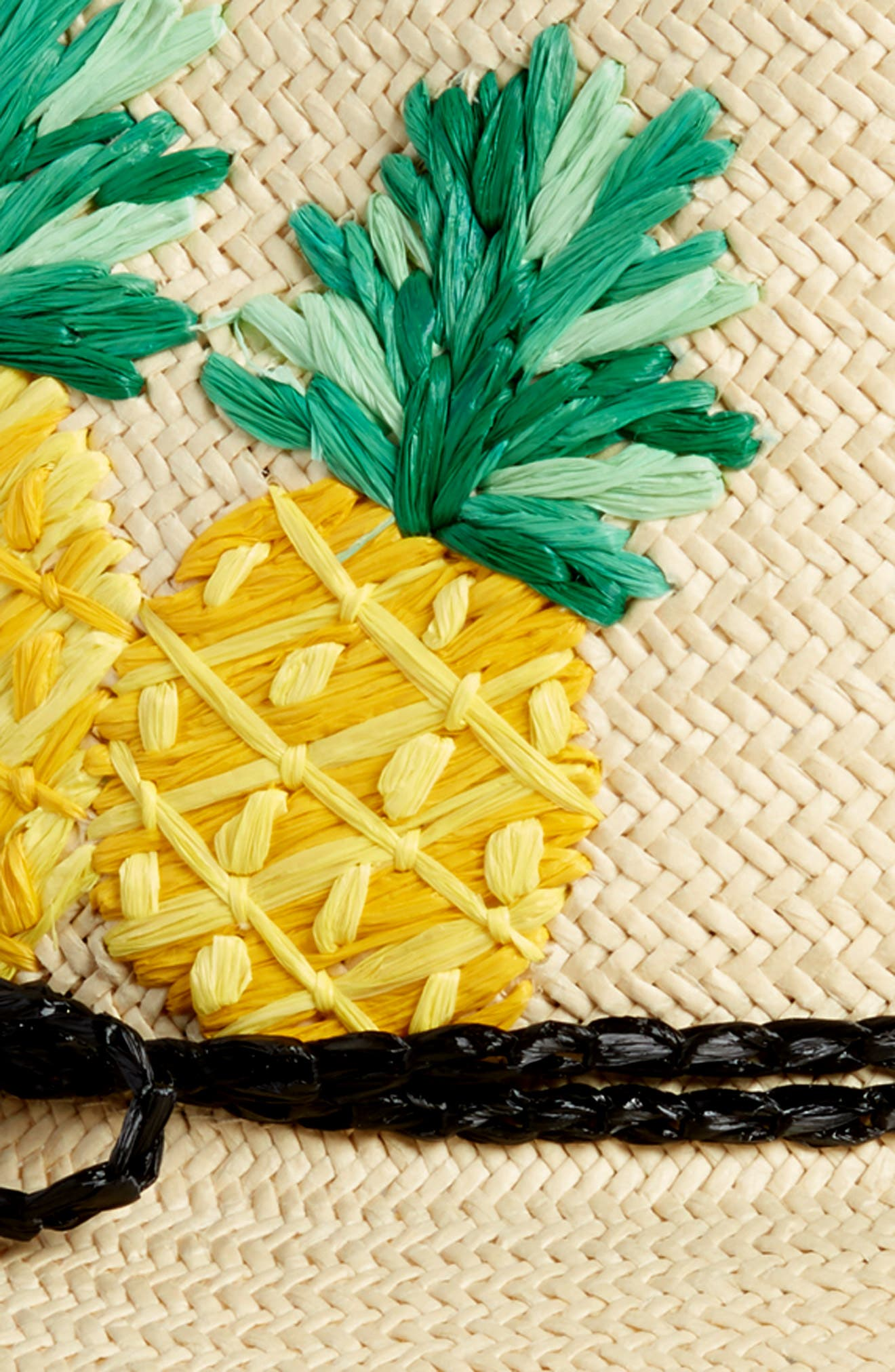 pineapple woven trilby,                             Alternate thumbnail 2, color,                             NATURAL