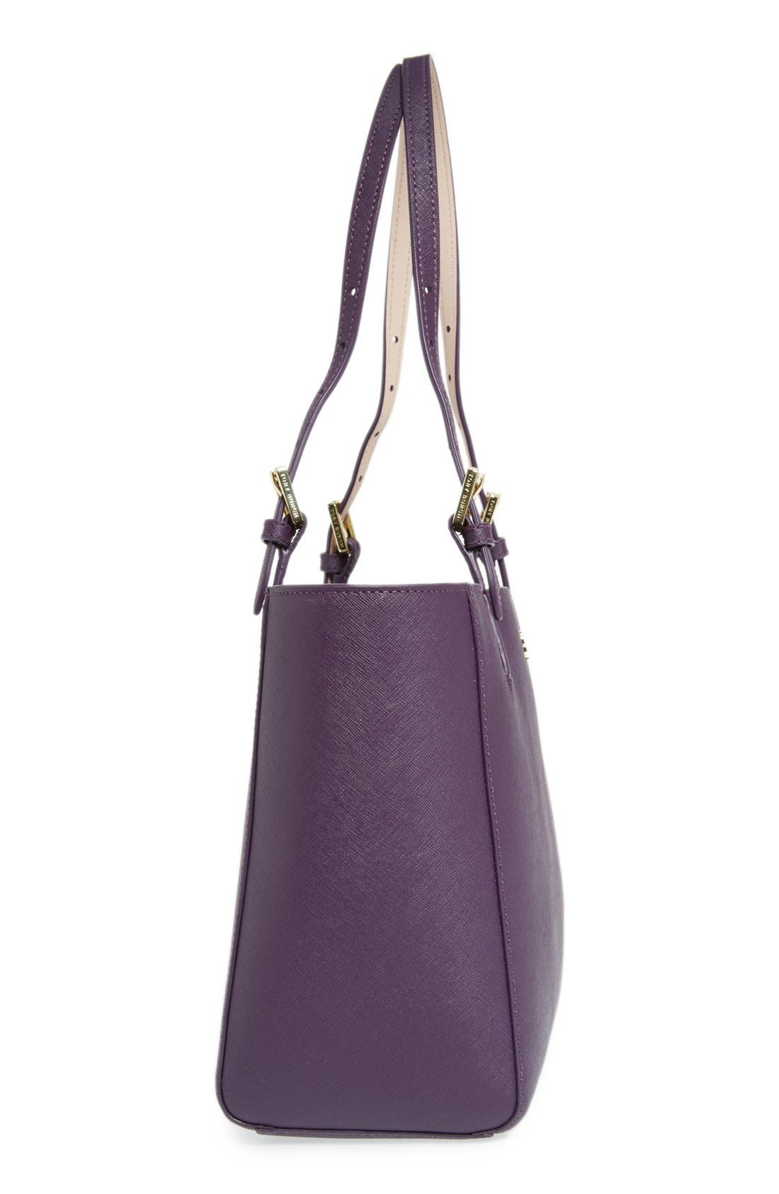 'Small York' Saffiano Leather Buckle Tote,                             Alternate thumbnail 50, color,