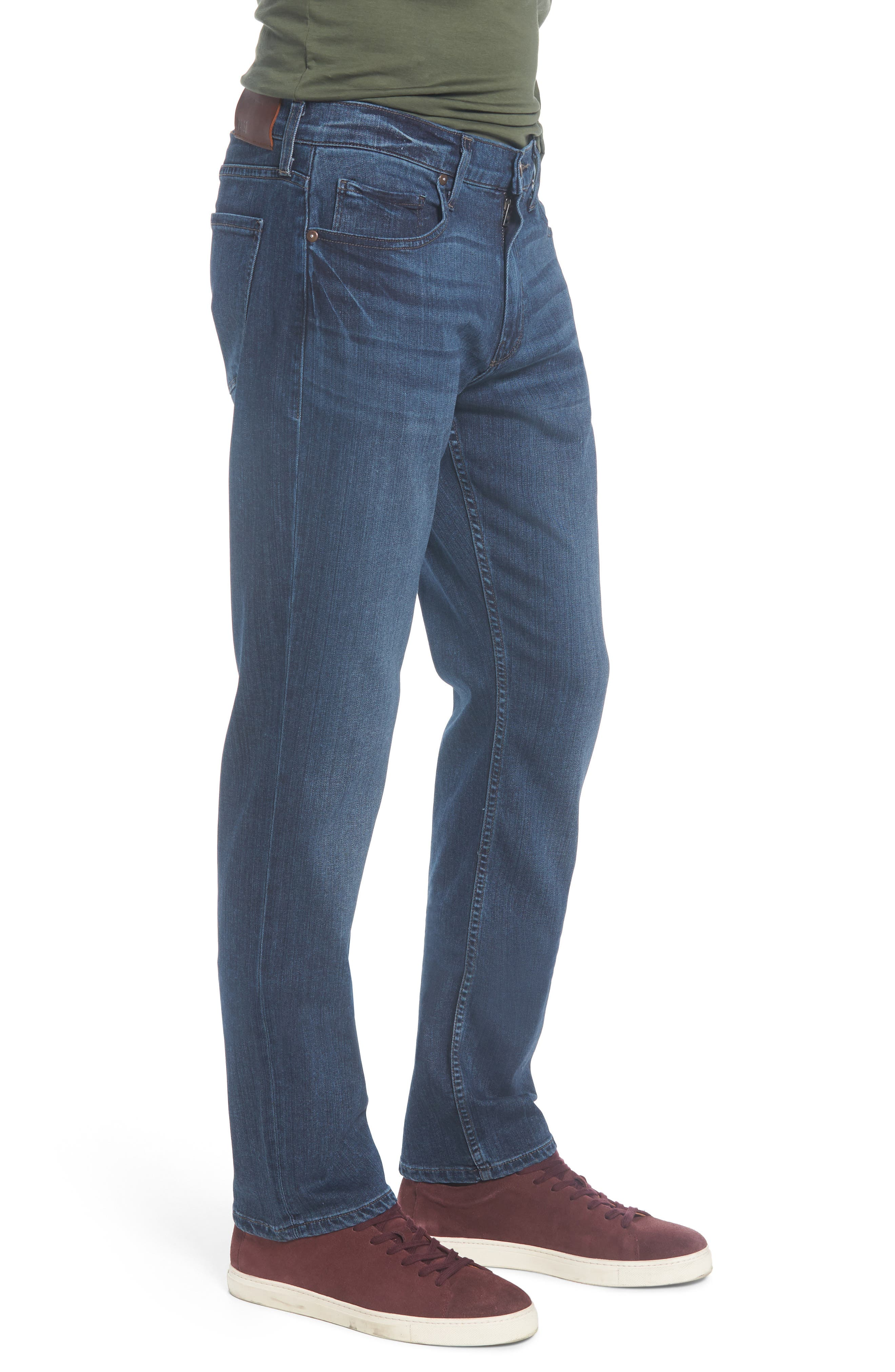 Normandie Straight Leg Jeans,                             Alternate thumbnail 3, color,                             400