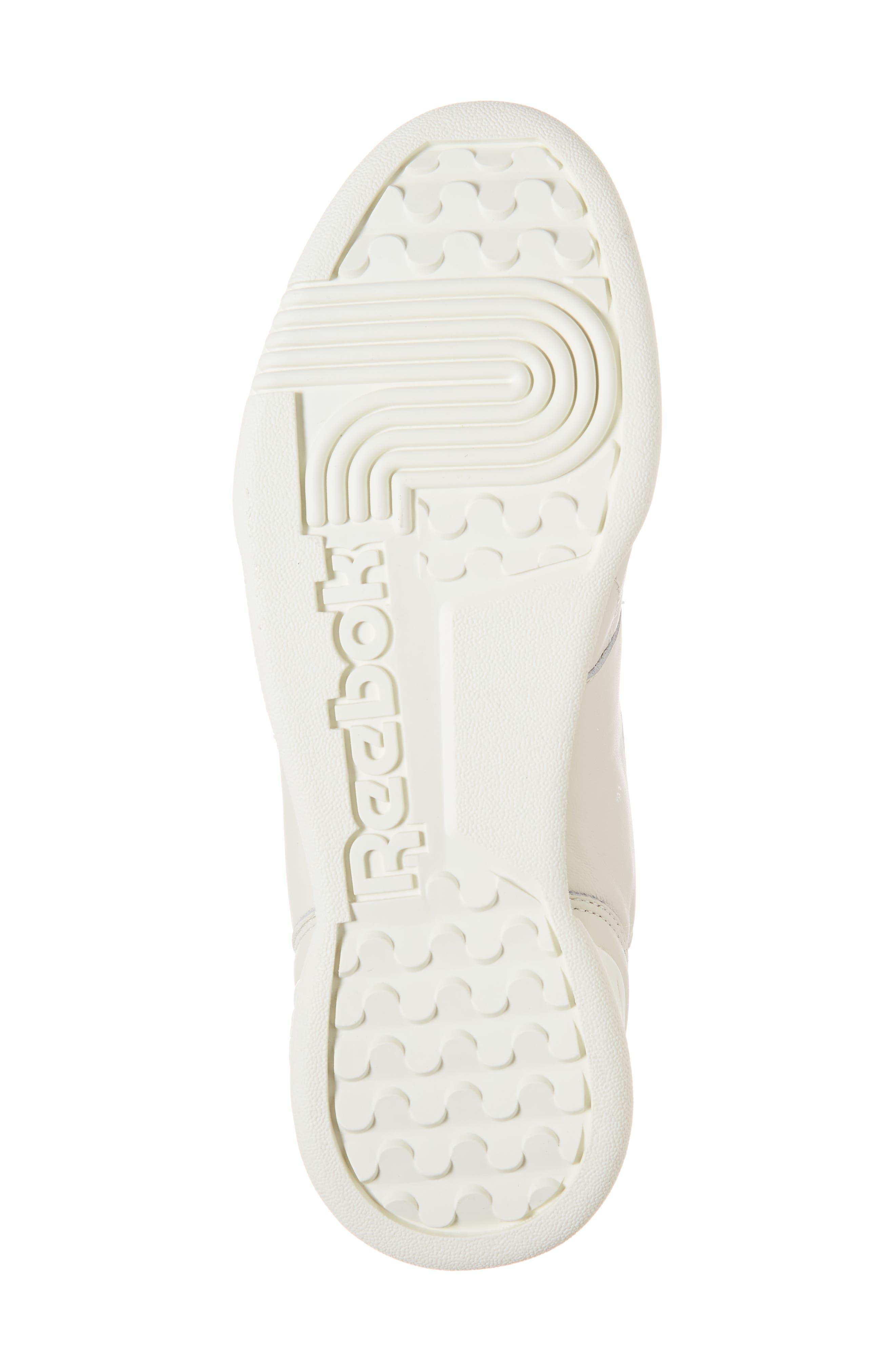 Workout Low Plus Sneaker,                             Alternate thumbnail 6, color,                             WHITE/ PRACTICAL PINK